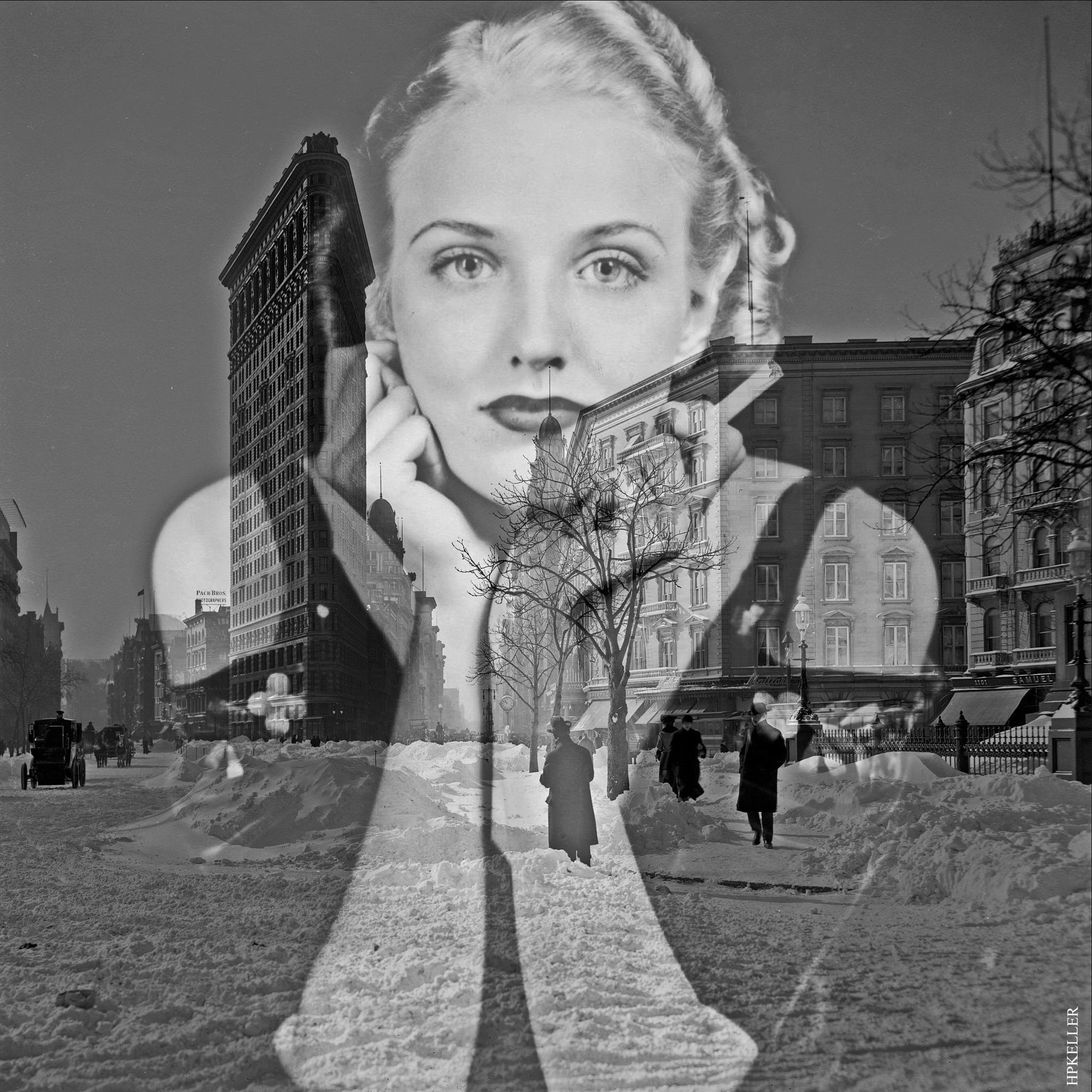 Many years ago in NYC..., Analogscans, subjektive Fotografie - Kombigrafie. by Hans-Peter Keller