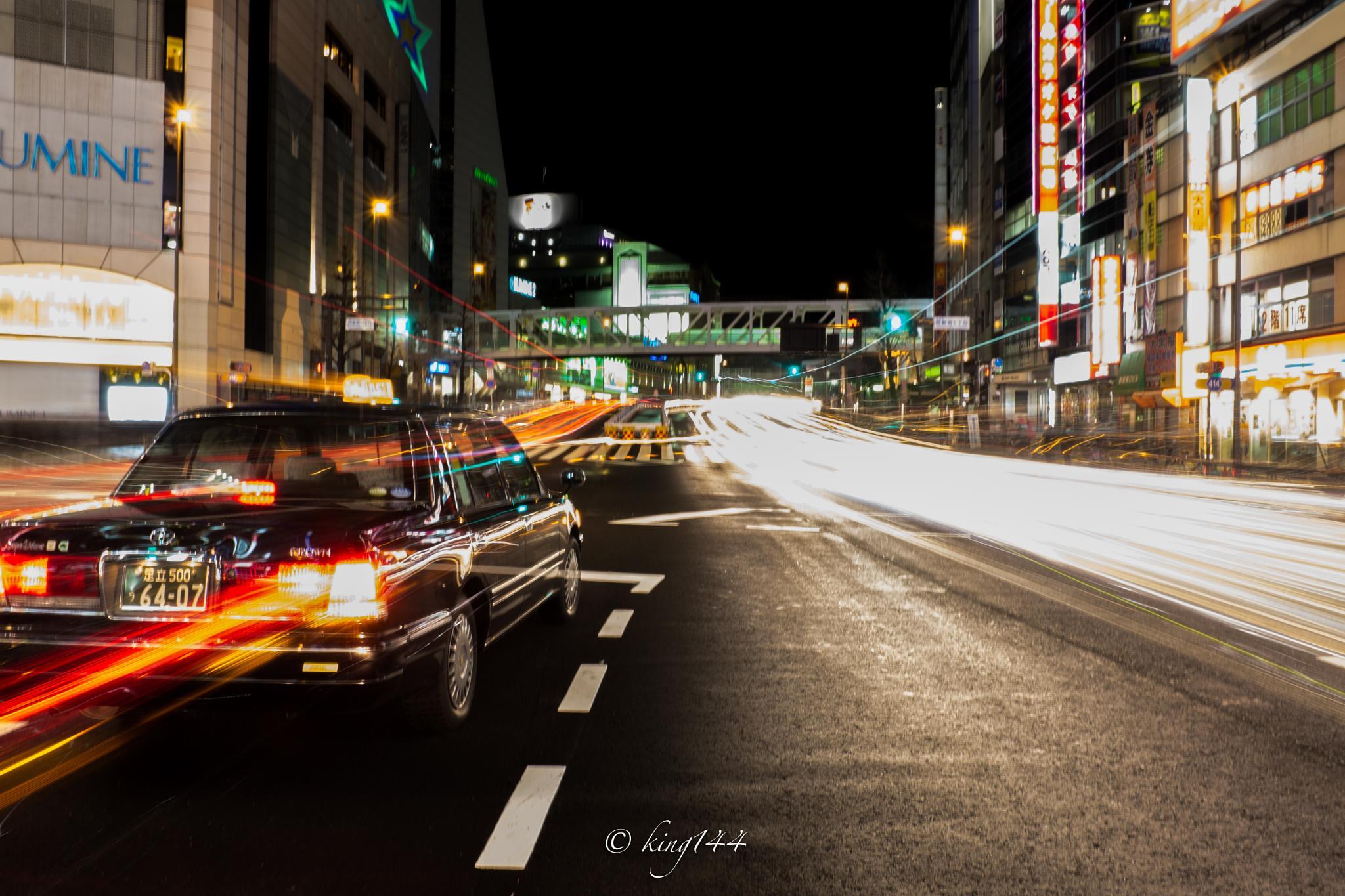 tokyo taxi by praphab