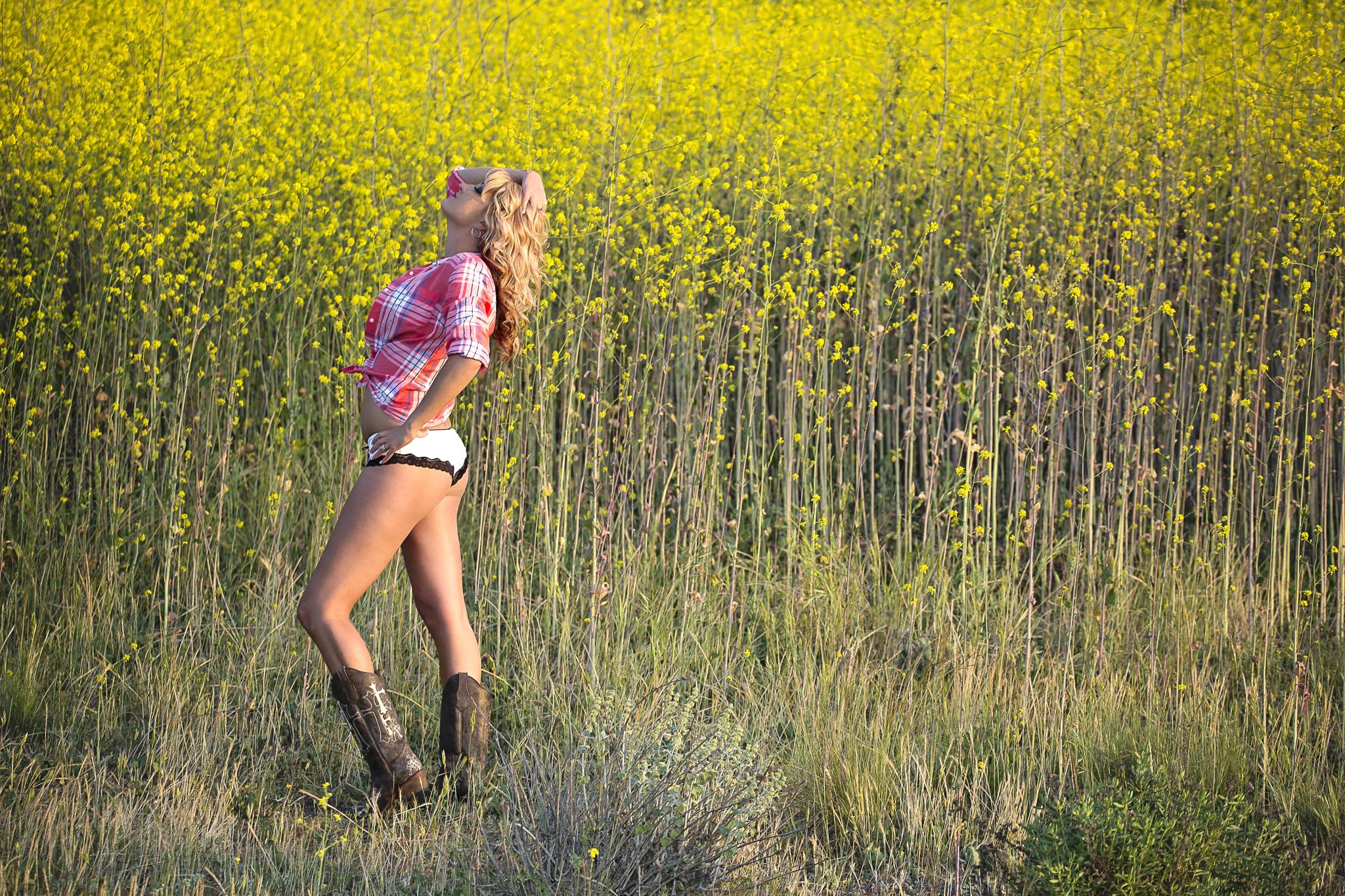 In Fields of Yellow by KRUSH Photography