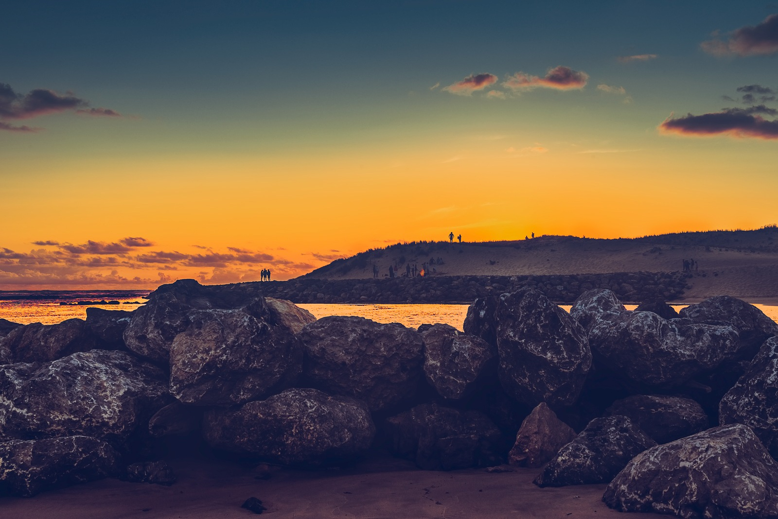 Sunset at the beach  by Rosana