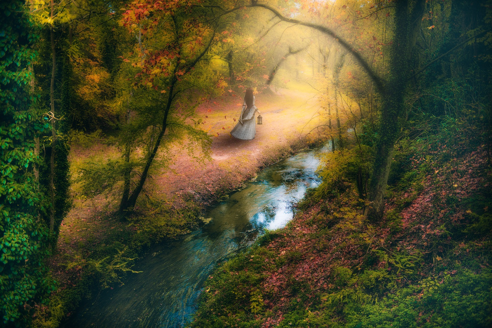 The girl in the forest by Rosana