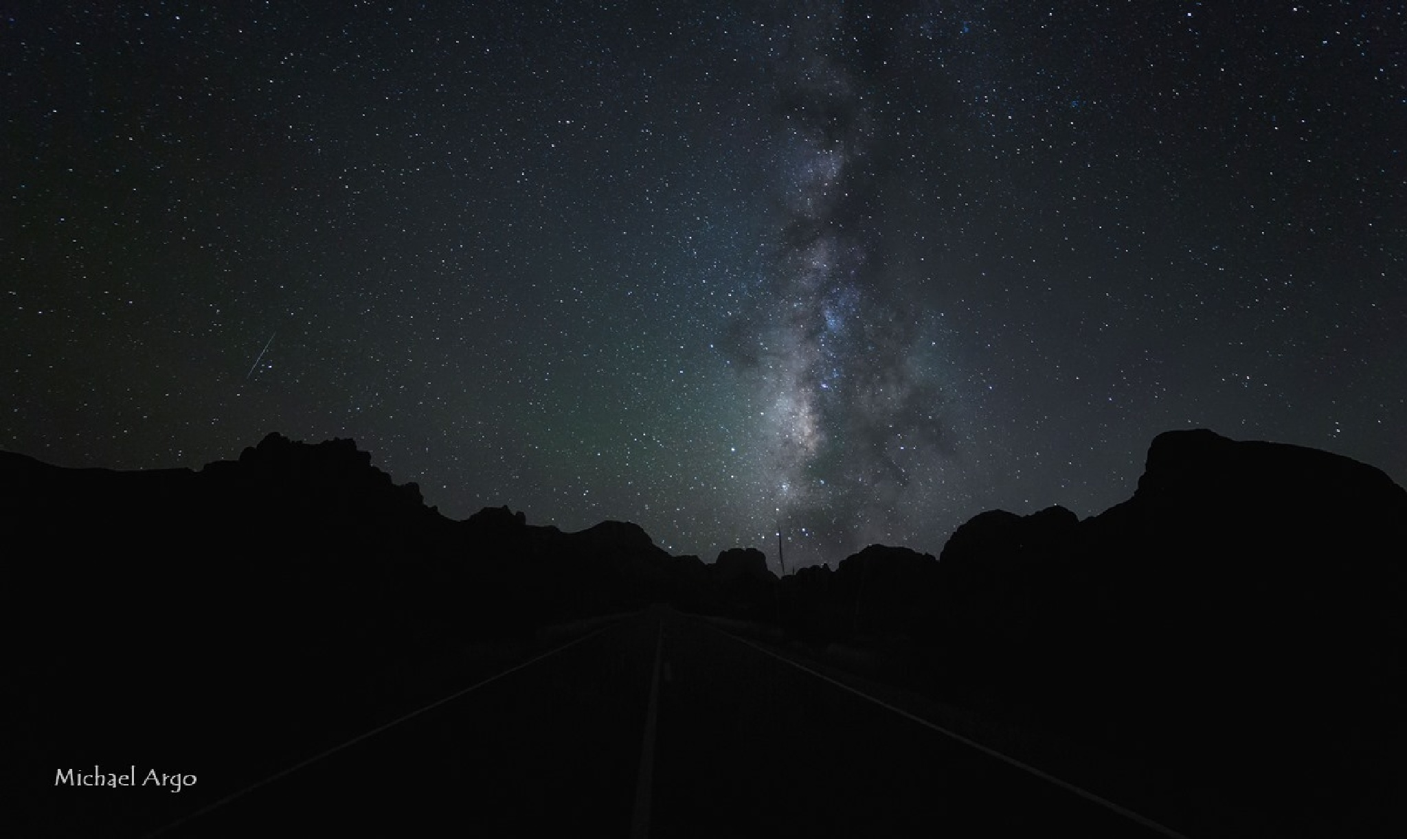 Milky Way in the Chisos Mountains by Michael Argo