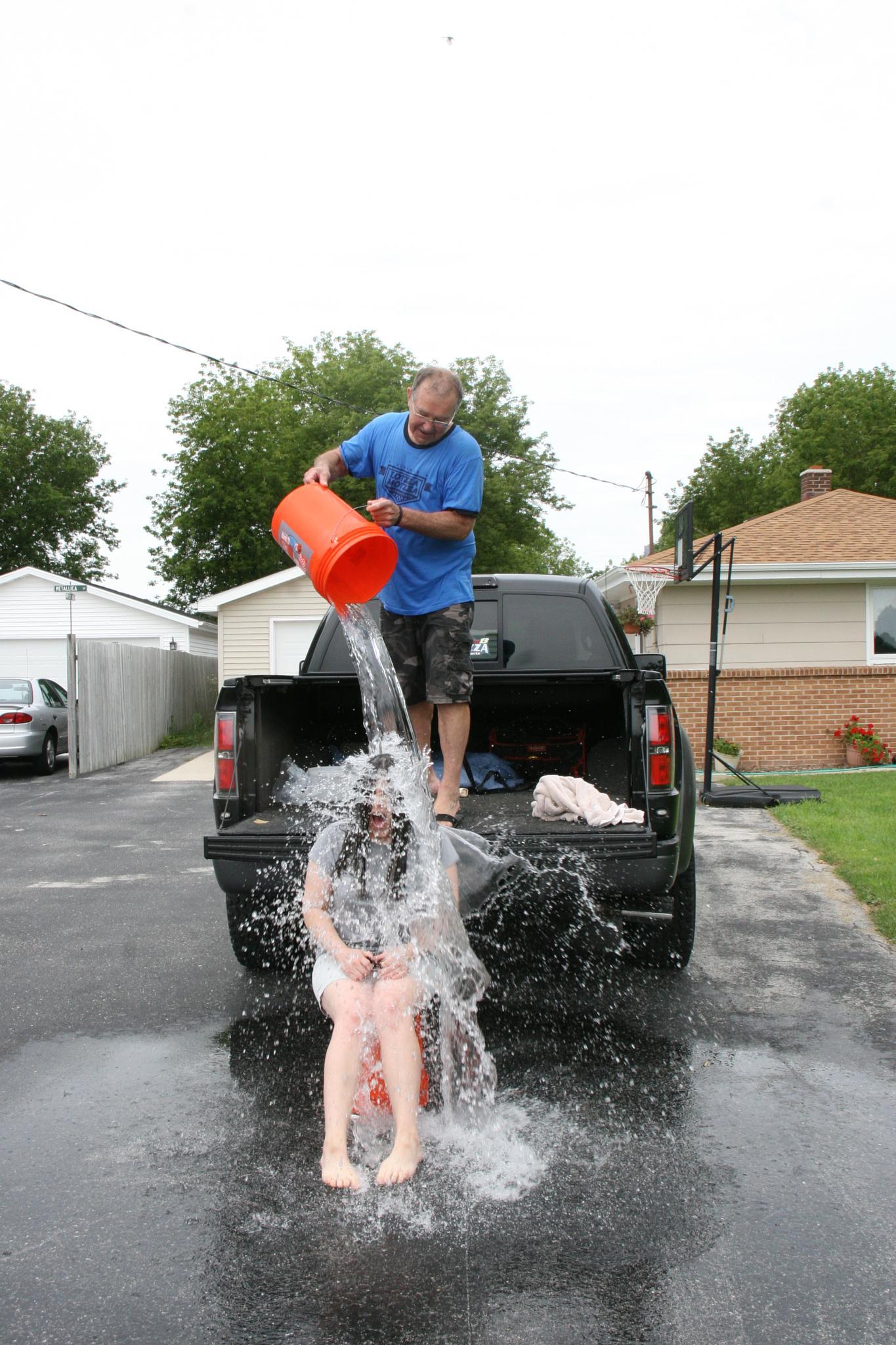 ALS Ice Bucket Challenge  by Marissa Sue Ringwell