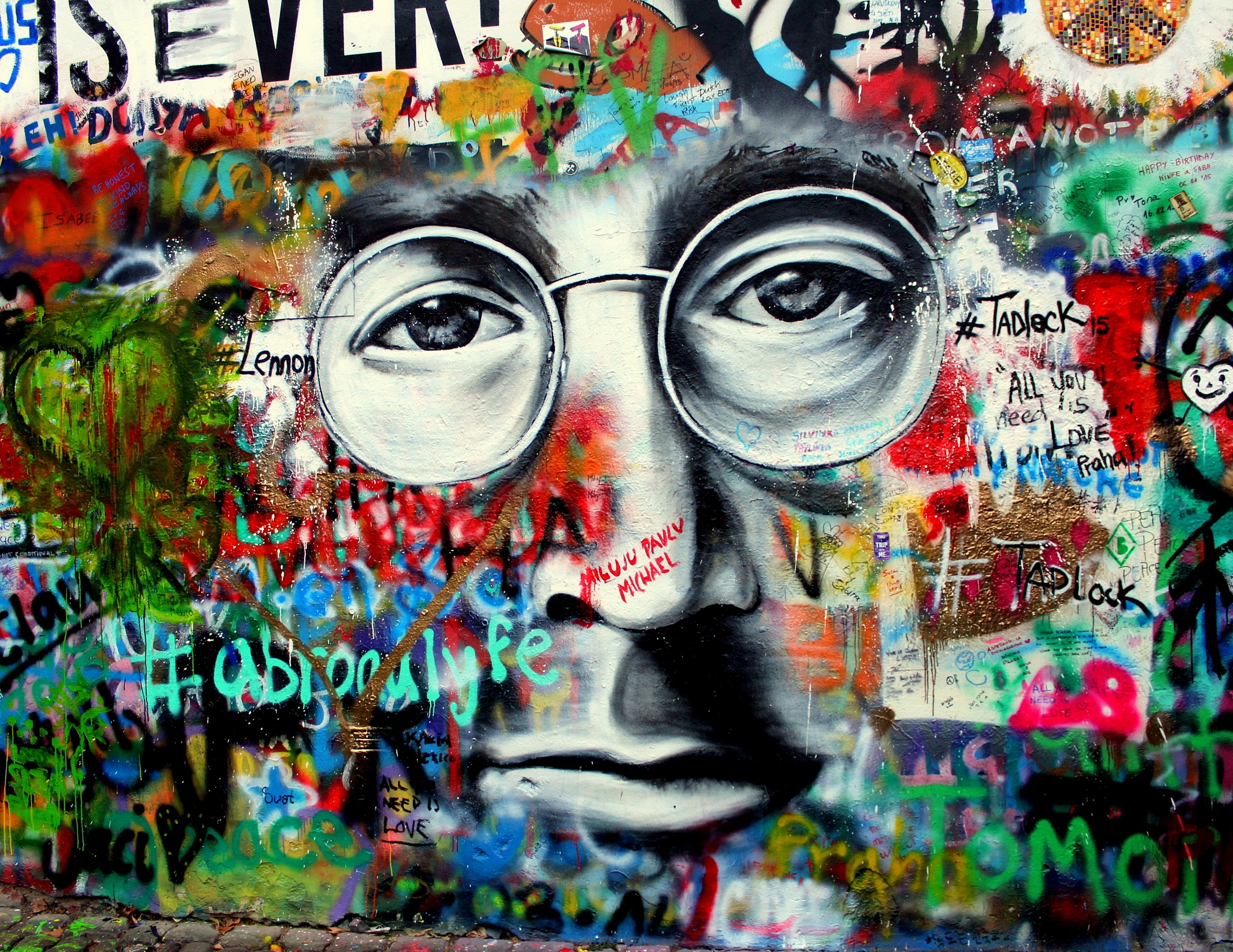 The John Lennon Wall by Isabel R.