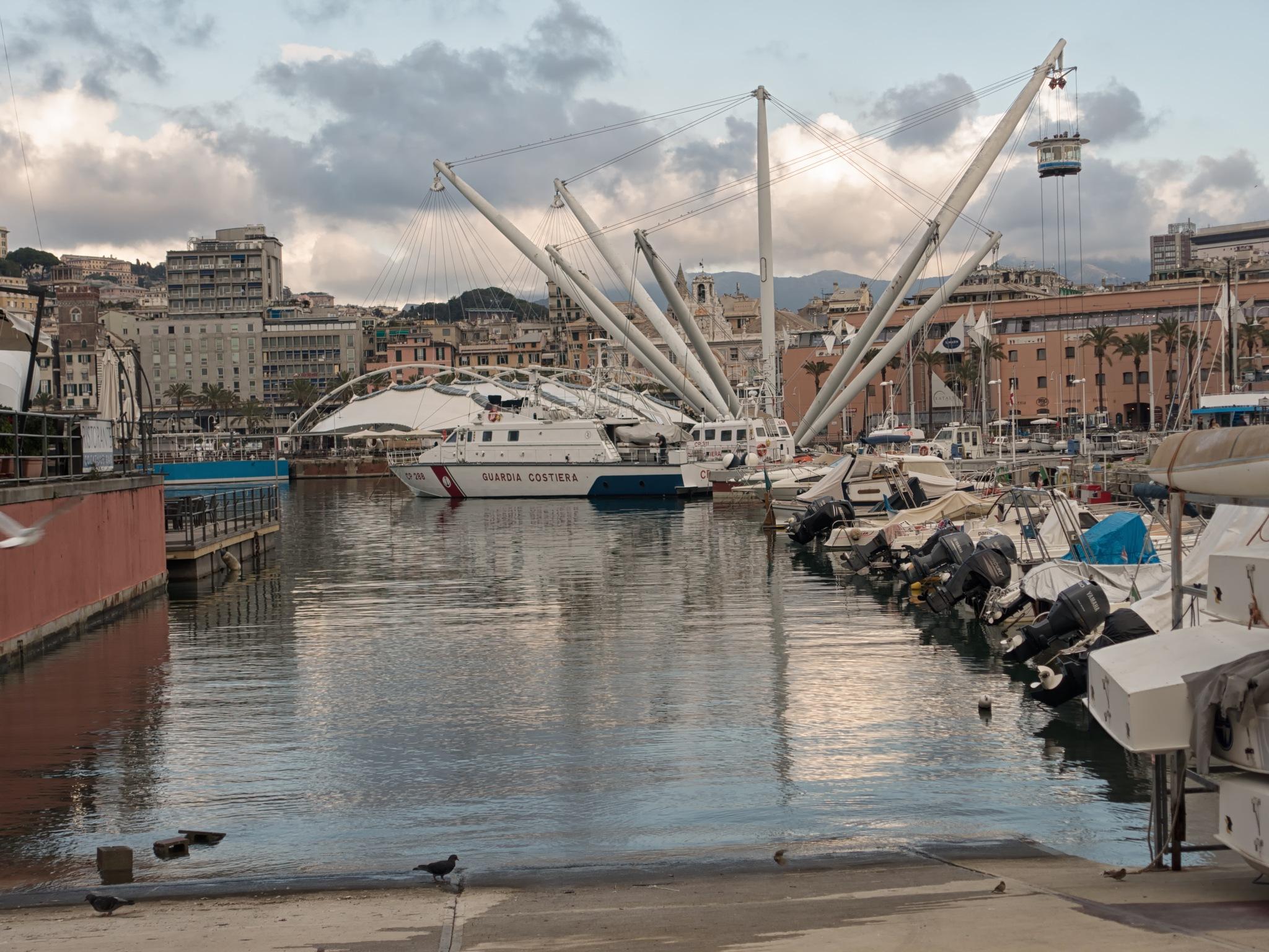 Genoa ancient harbour by sunrisesunset
