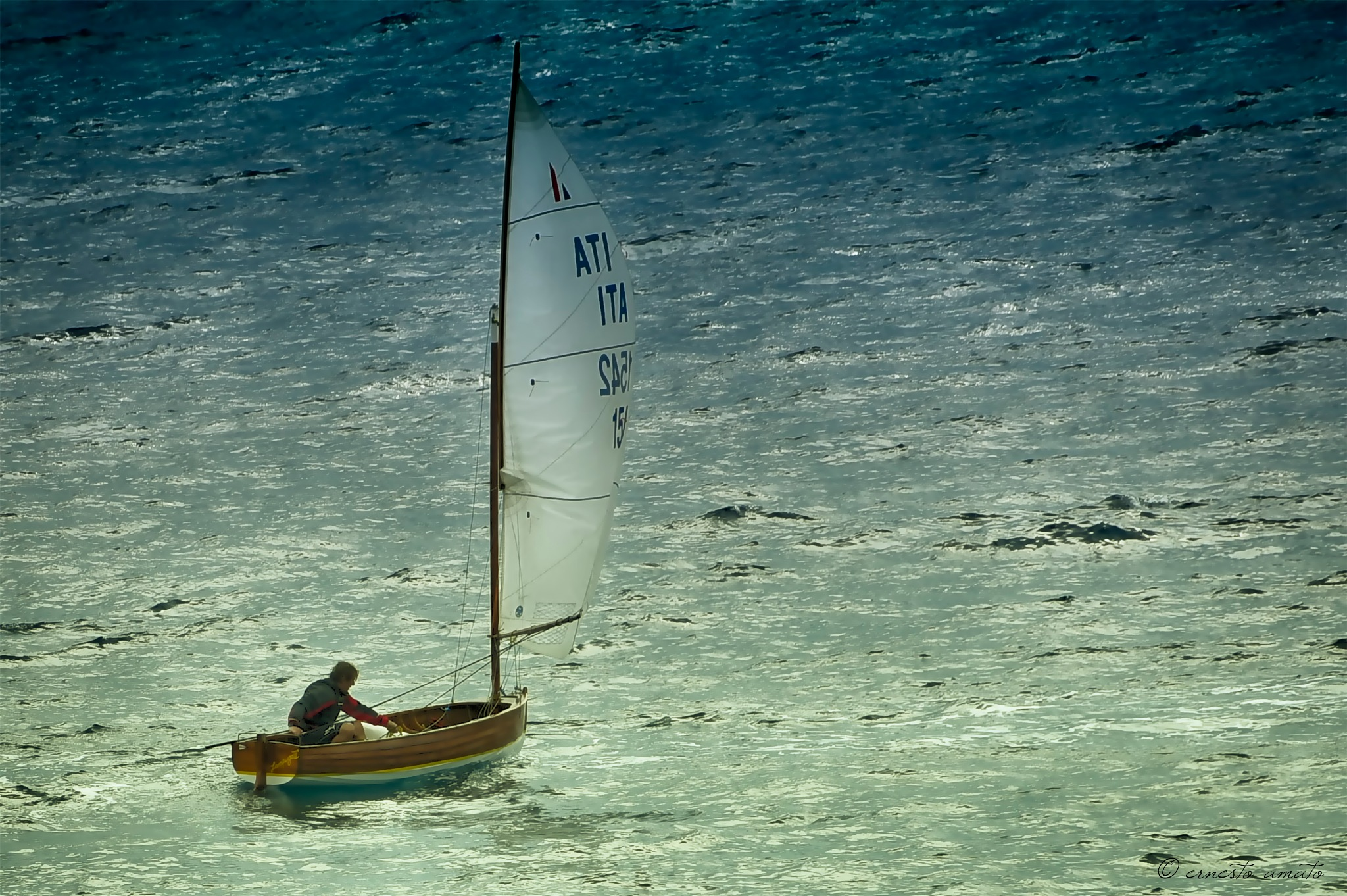 sail boat in the wind by sunrisesunset