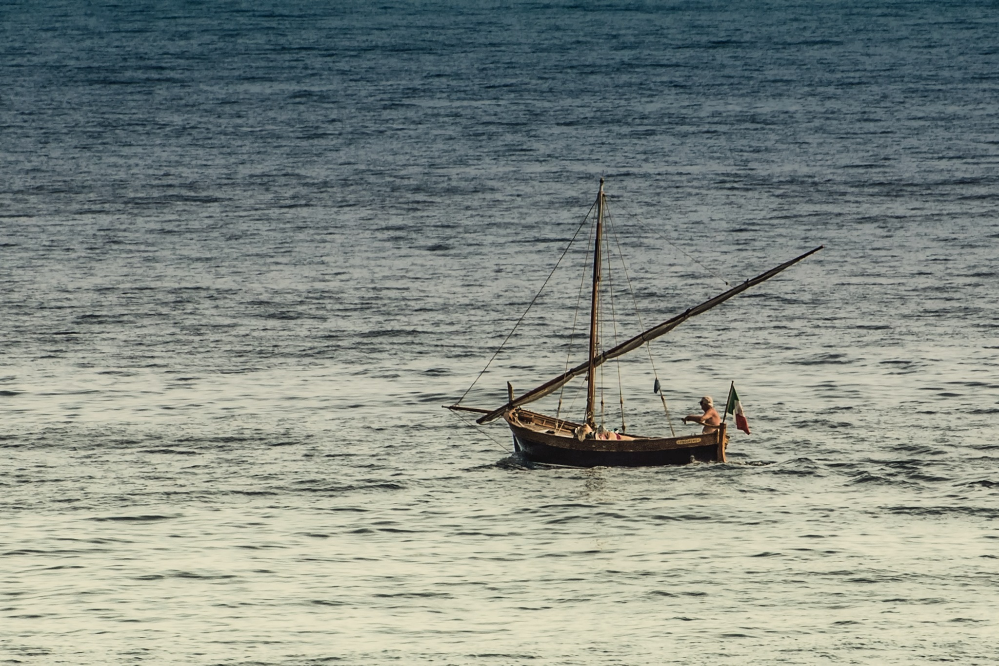 sailing on a quiet sea by ernesto amato