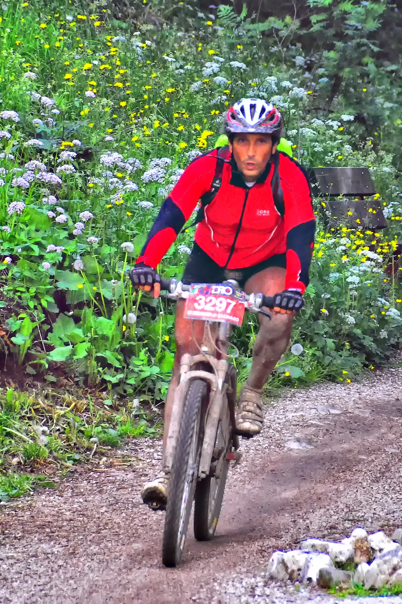 mountainbike competition by ernesto amato