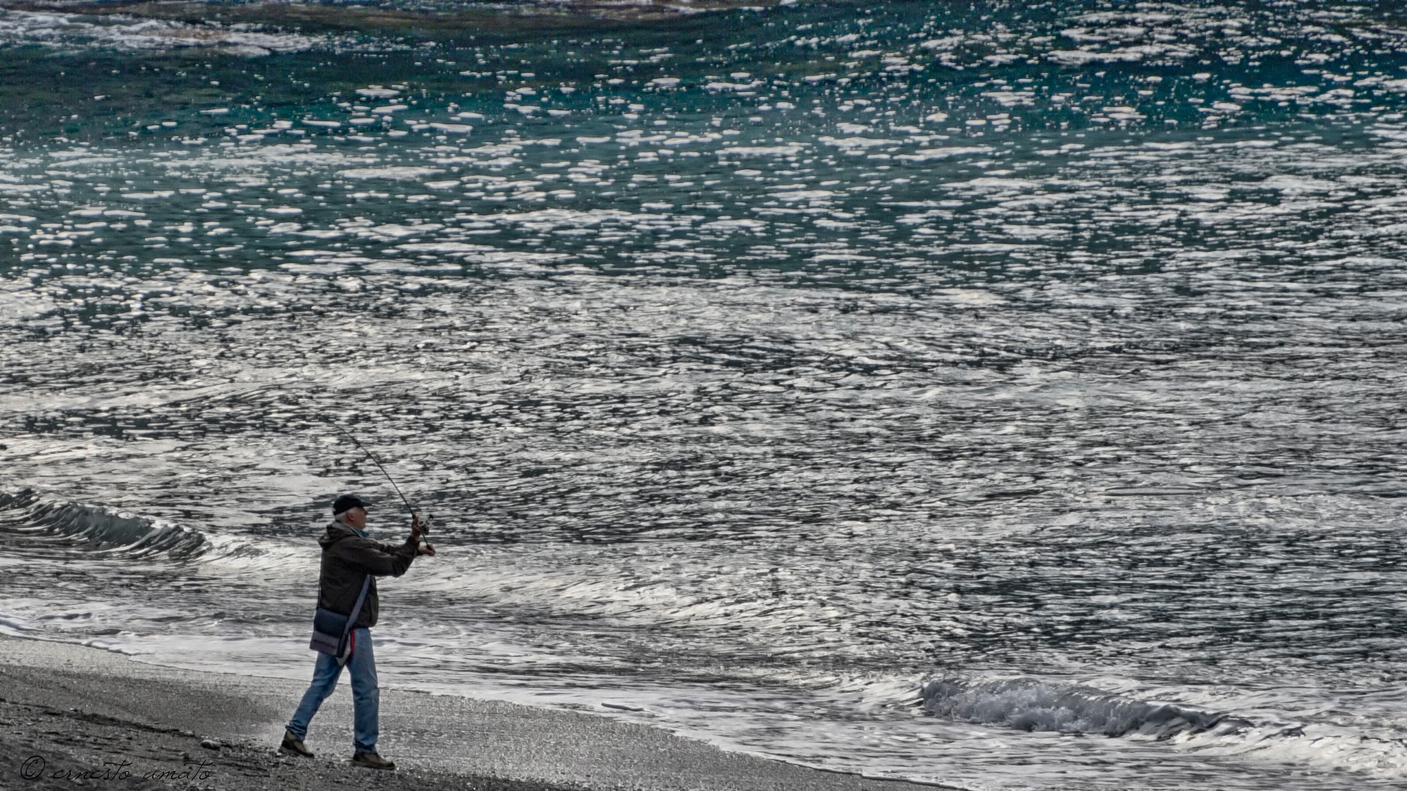 fishing rod launch by ernesto amato