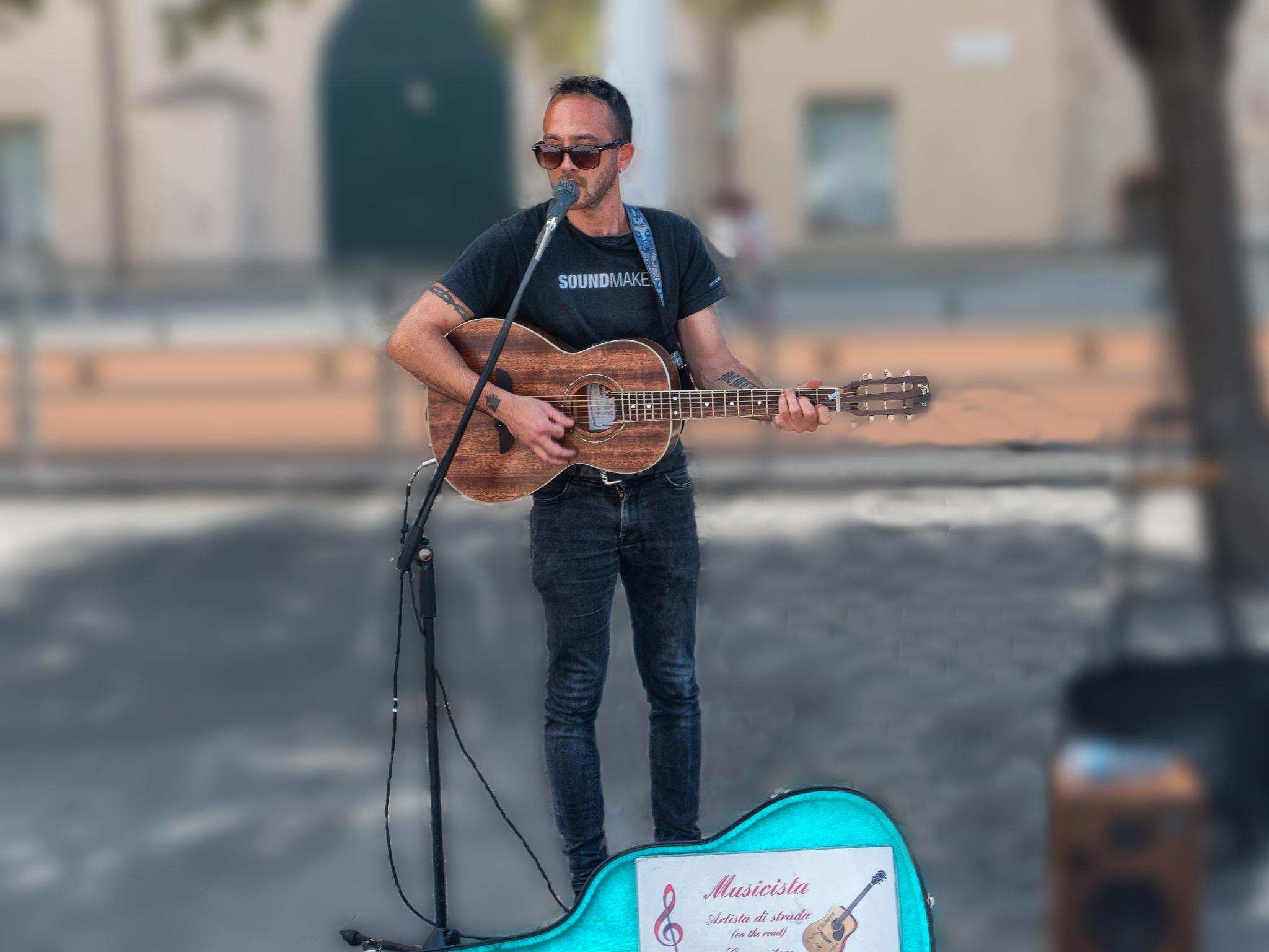 street artist musician by sunrisesunset