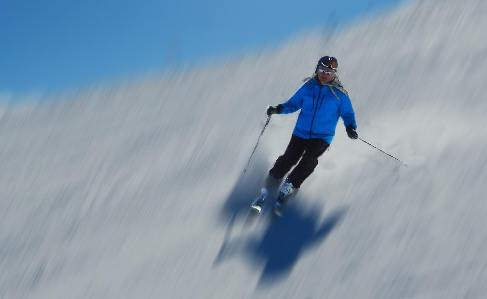 fast skier by sunrisesunset