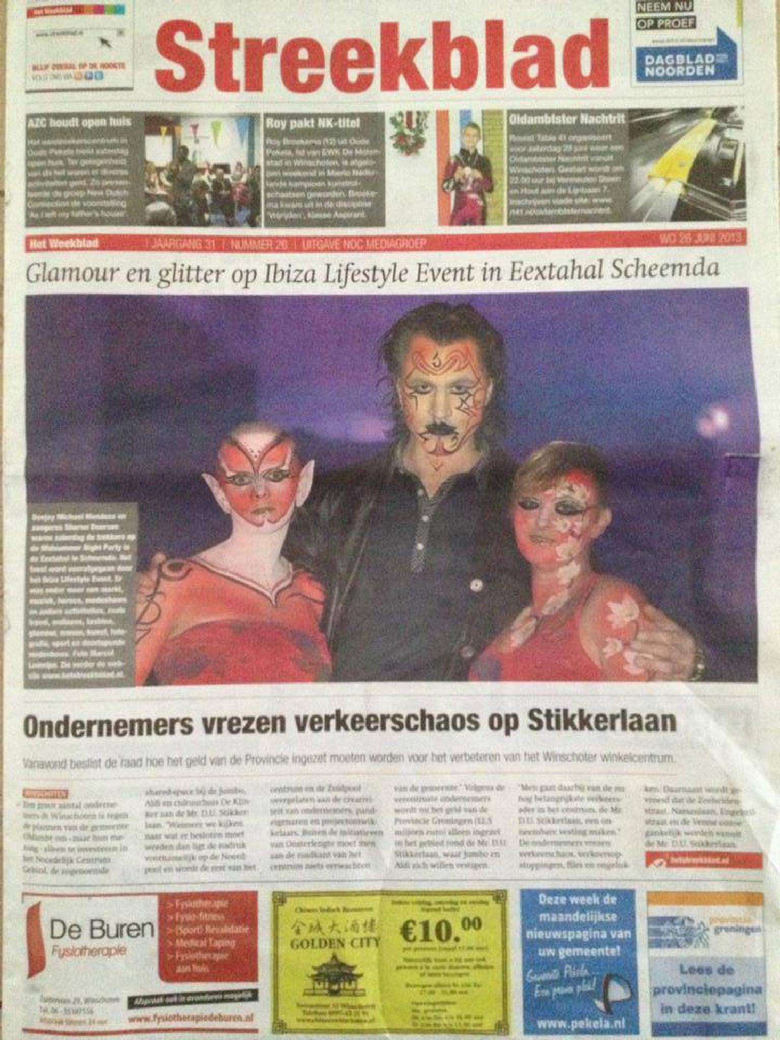 Fotomodel Marijn in de krant  by EMR Photography & Fotomodel Marijn