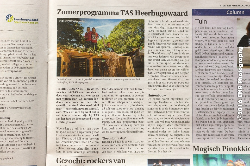 My photo in the newspaper by EMR Photography & Fotomodel Marijn