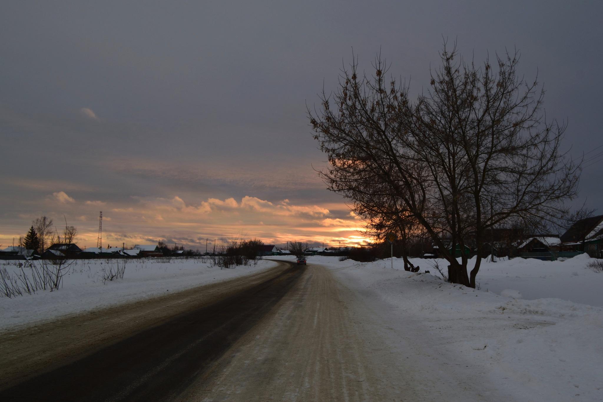Rural evening. by Andrey Gordeeff