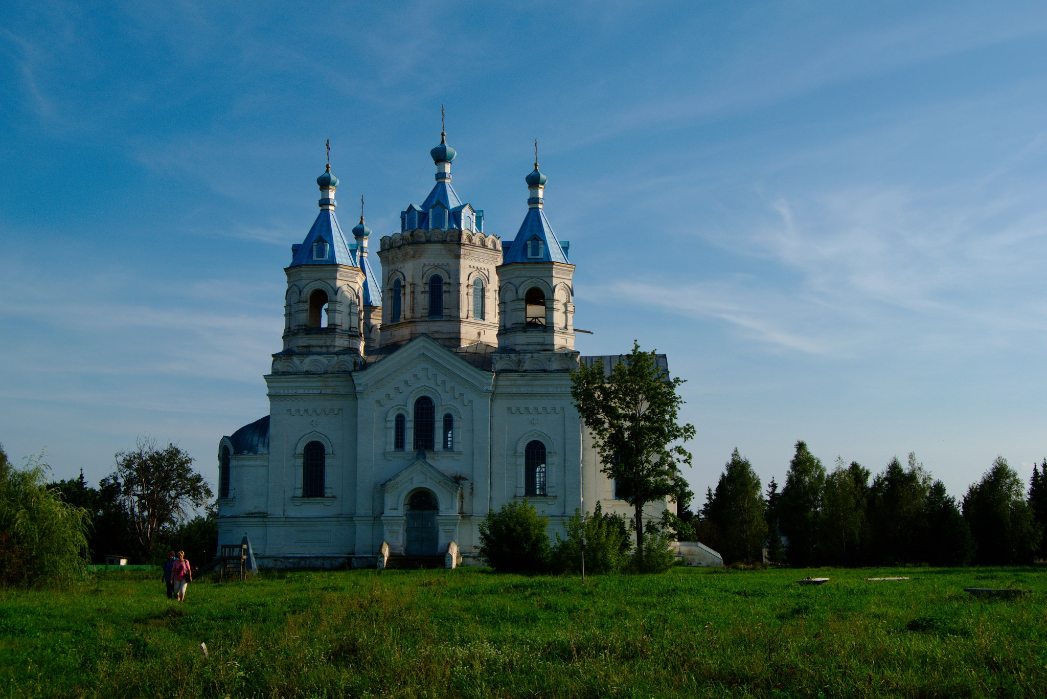 Summer landscape. The old church. Church of the Epiphany. by Andrey Gordeeff