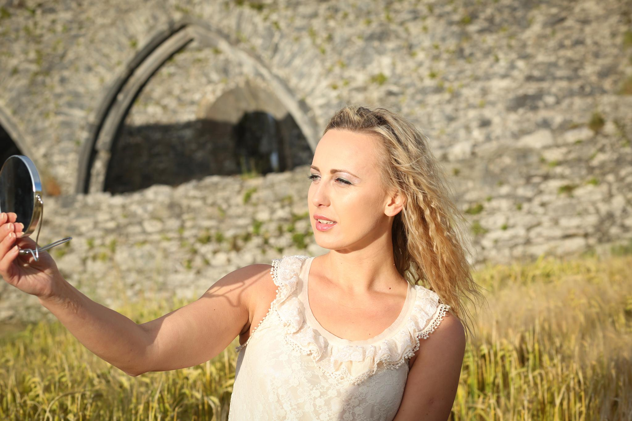 Young Lady in the Irish Summer sun by johndsull