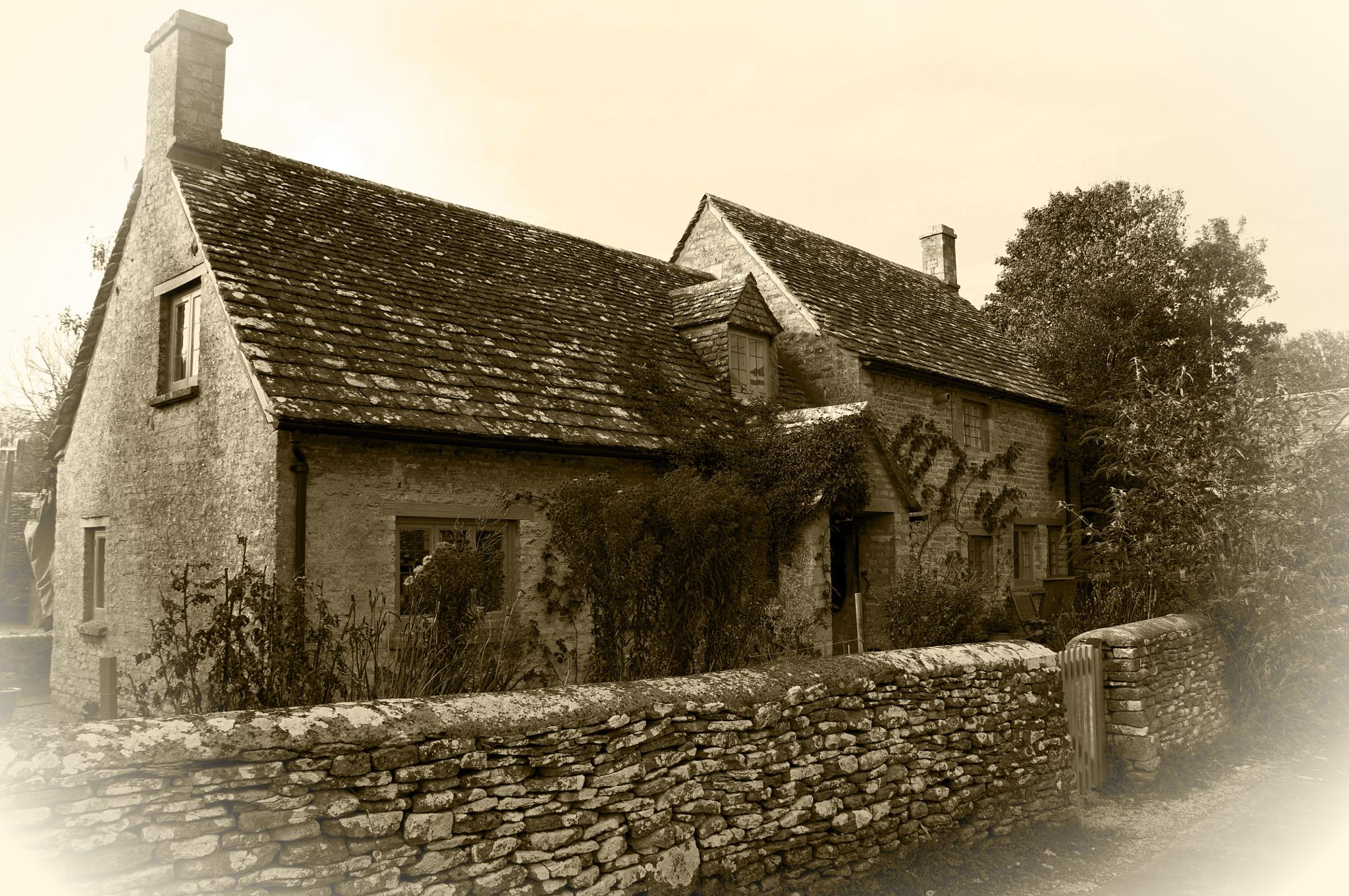 Photo in Black and White #cottage #cotswolds