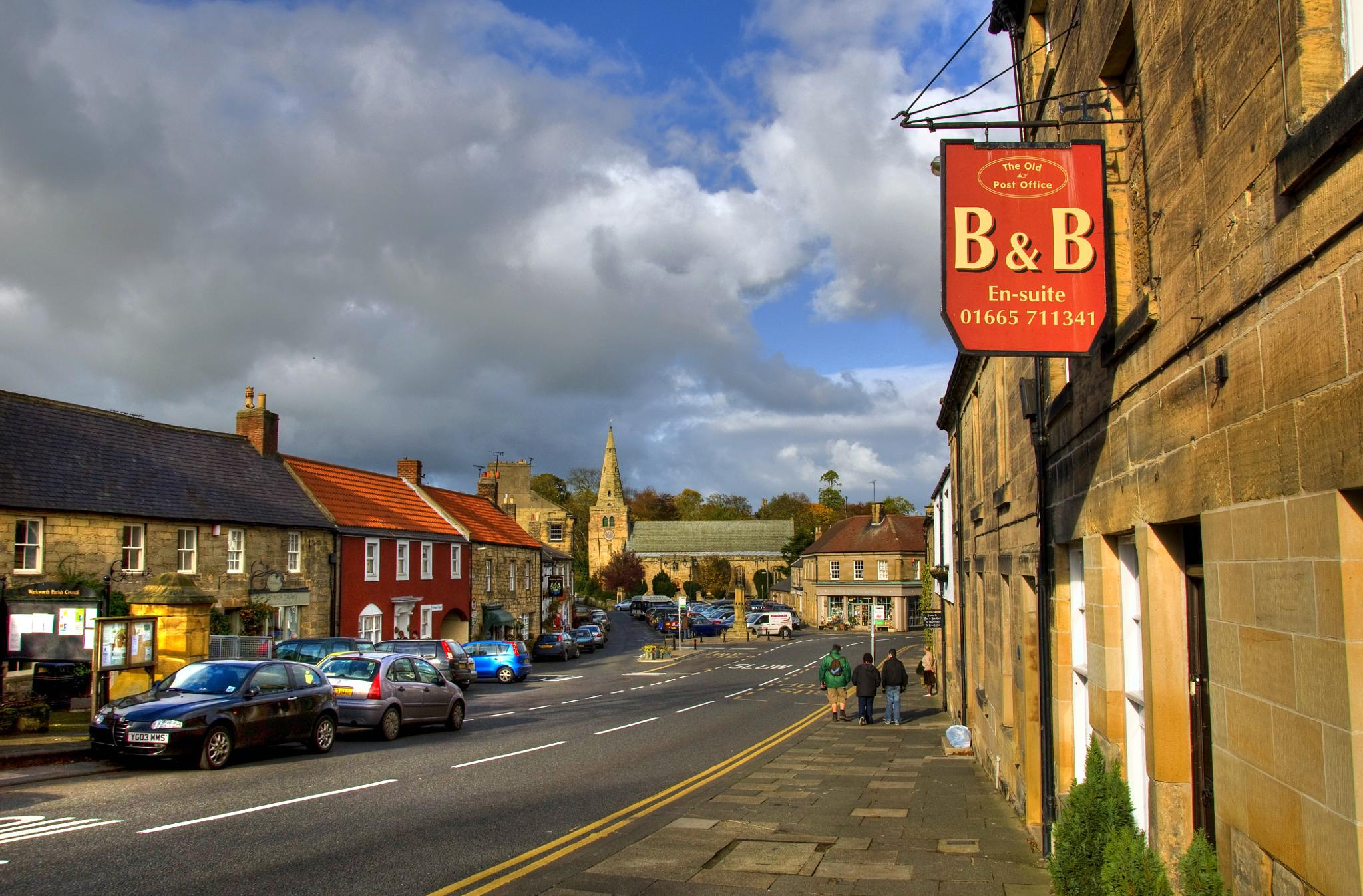 Warkworth village by lenbage