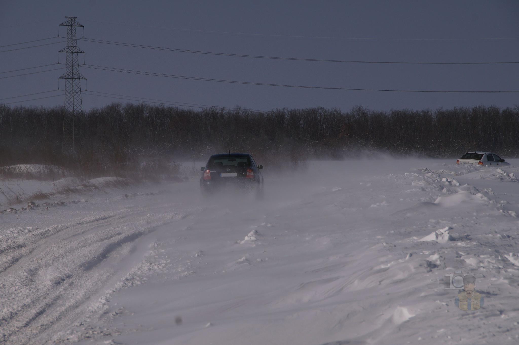 Febr.24, snowdrift on road #2 by hunyadigeza