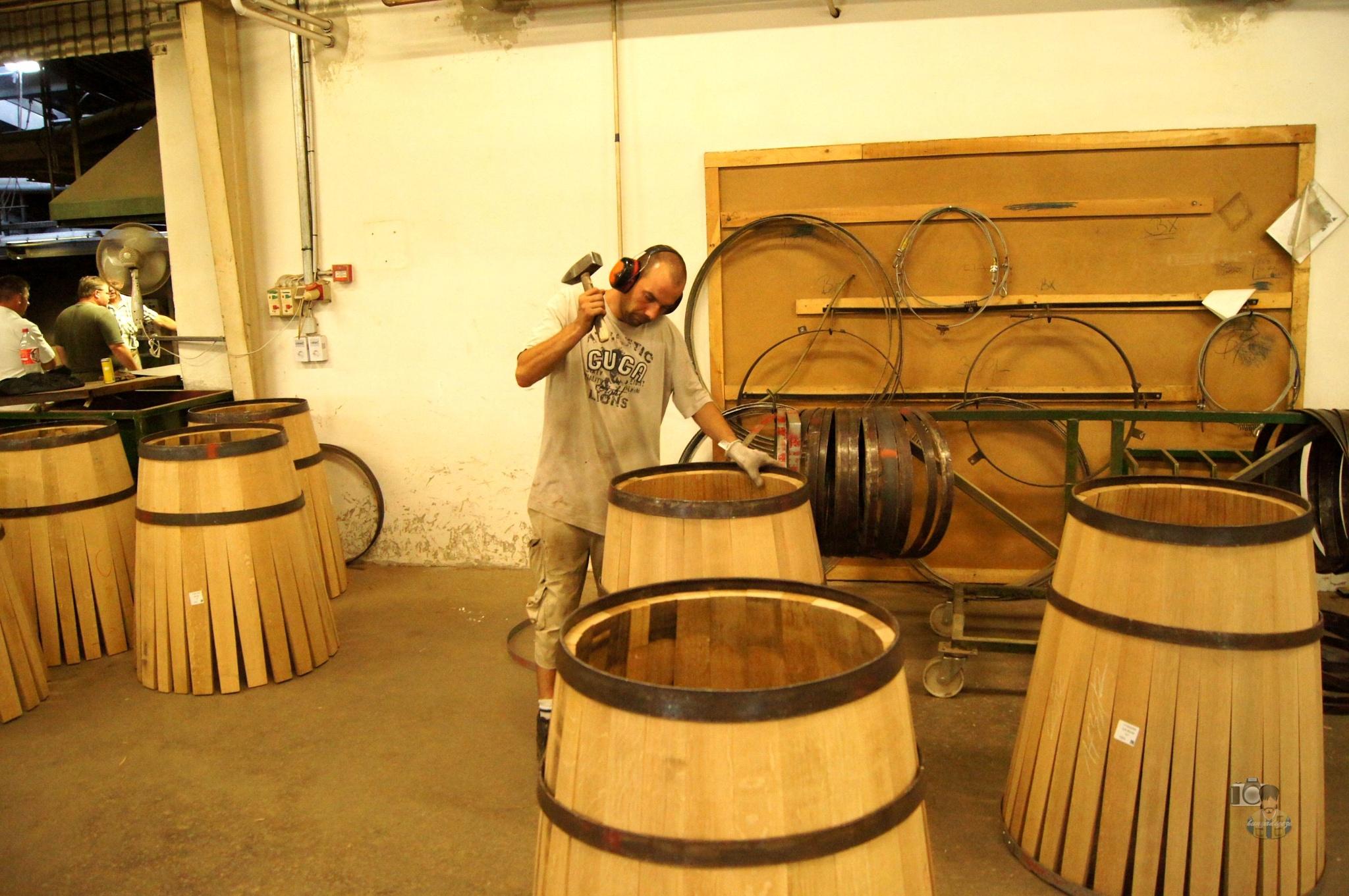 oak wine barrel production Szigetvár, Hungary #1 by hunyadigeza