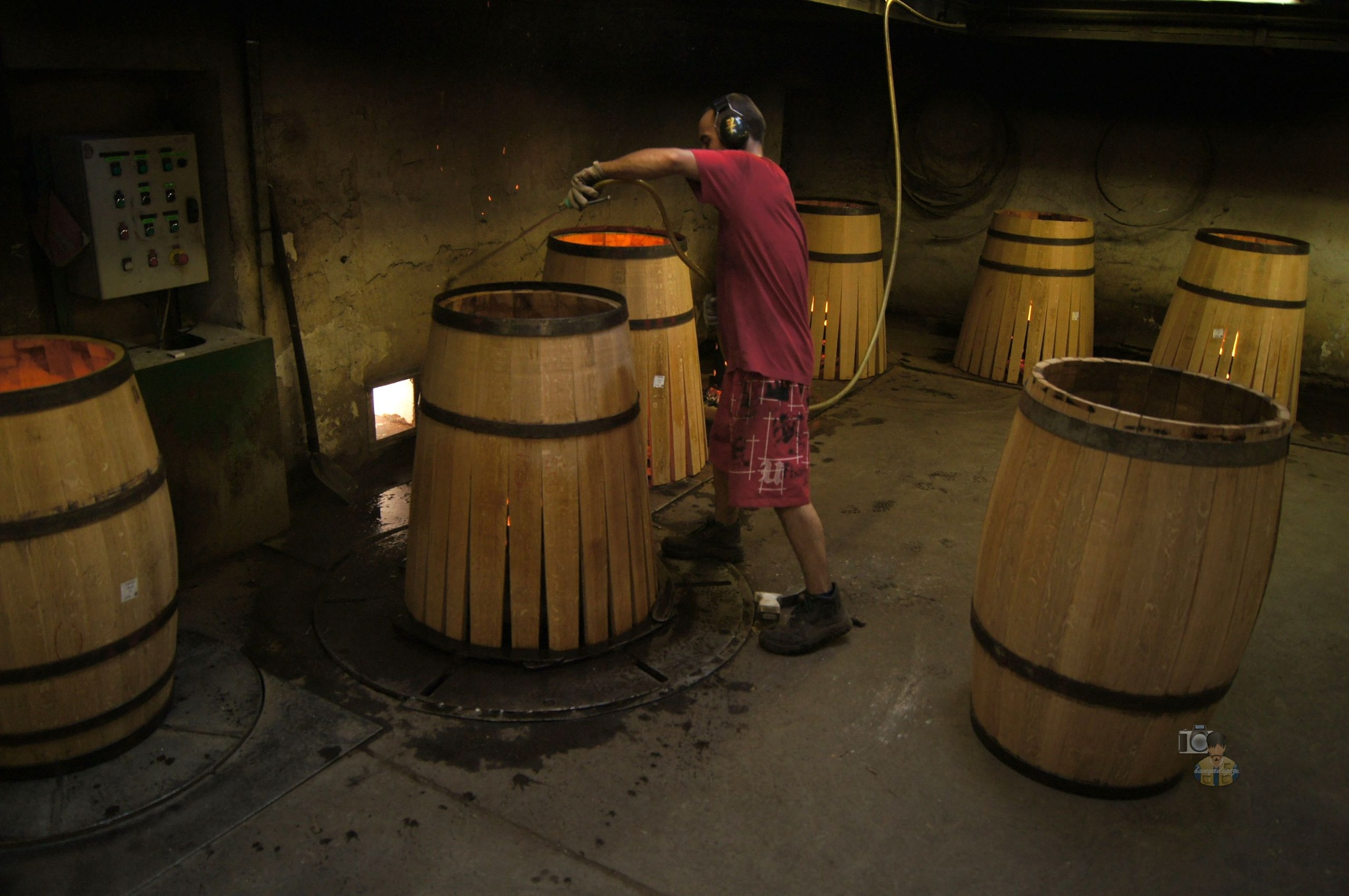 oak wine barrel production Szigetvár, Hungary #2 by hunyadigeza