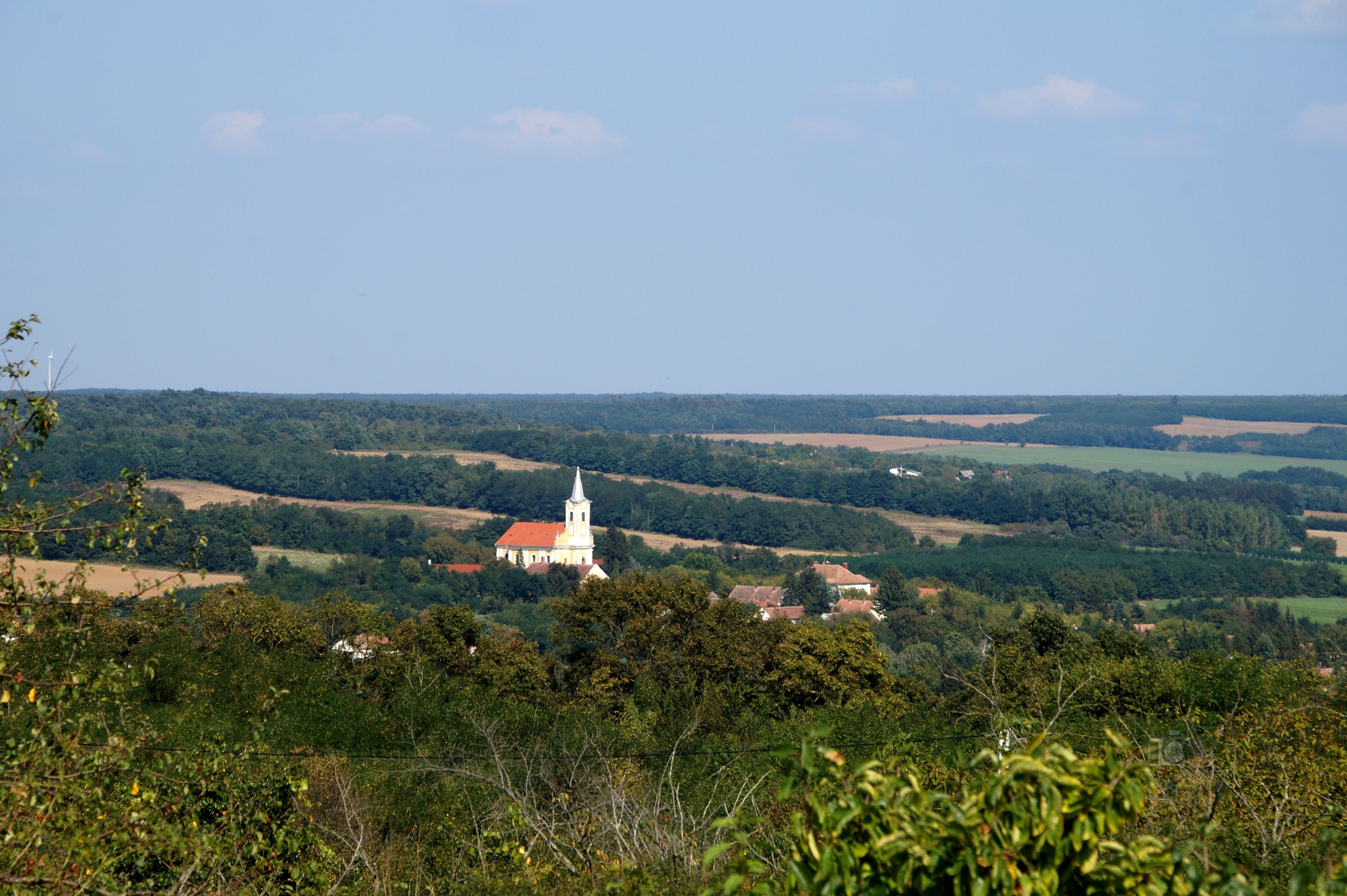 Sep.14, landscape with church by hunyadigeza
