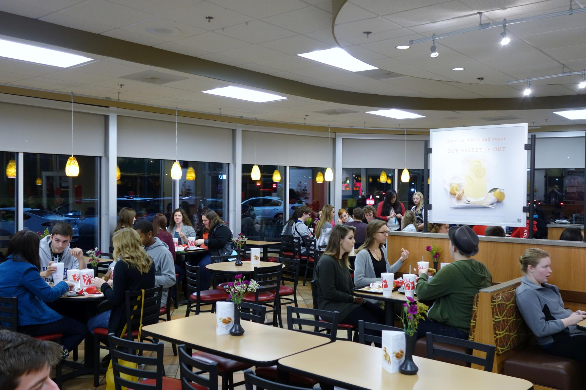 College Night At Chick-fil-a by Gary Cole