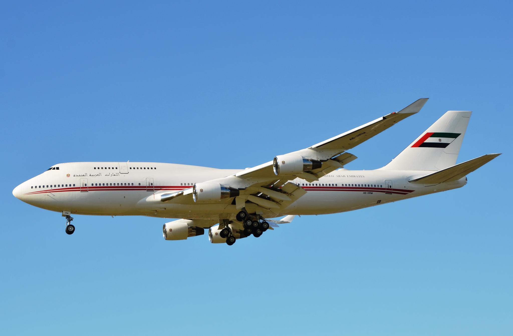 B744 VVIP jet A6-HRM United Arab Emirates at LHR by jarjar-binks.6518