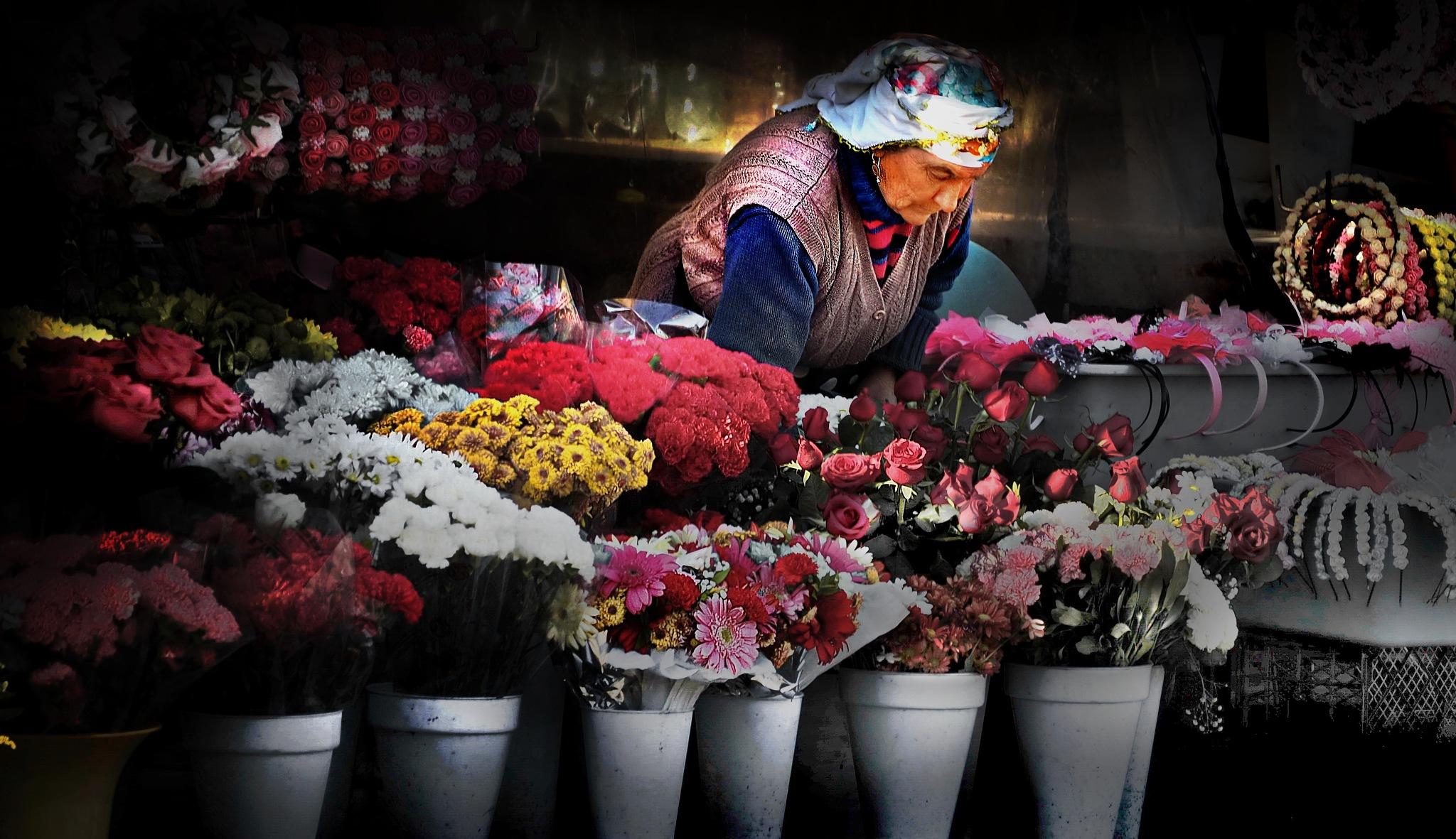 Flower Market Colors by Bert Lee