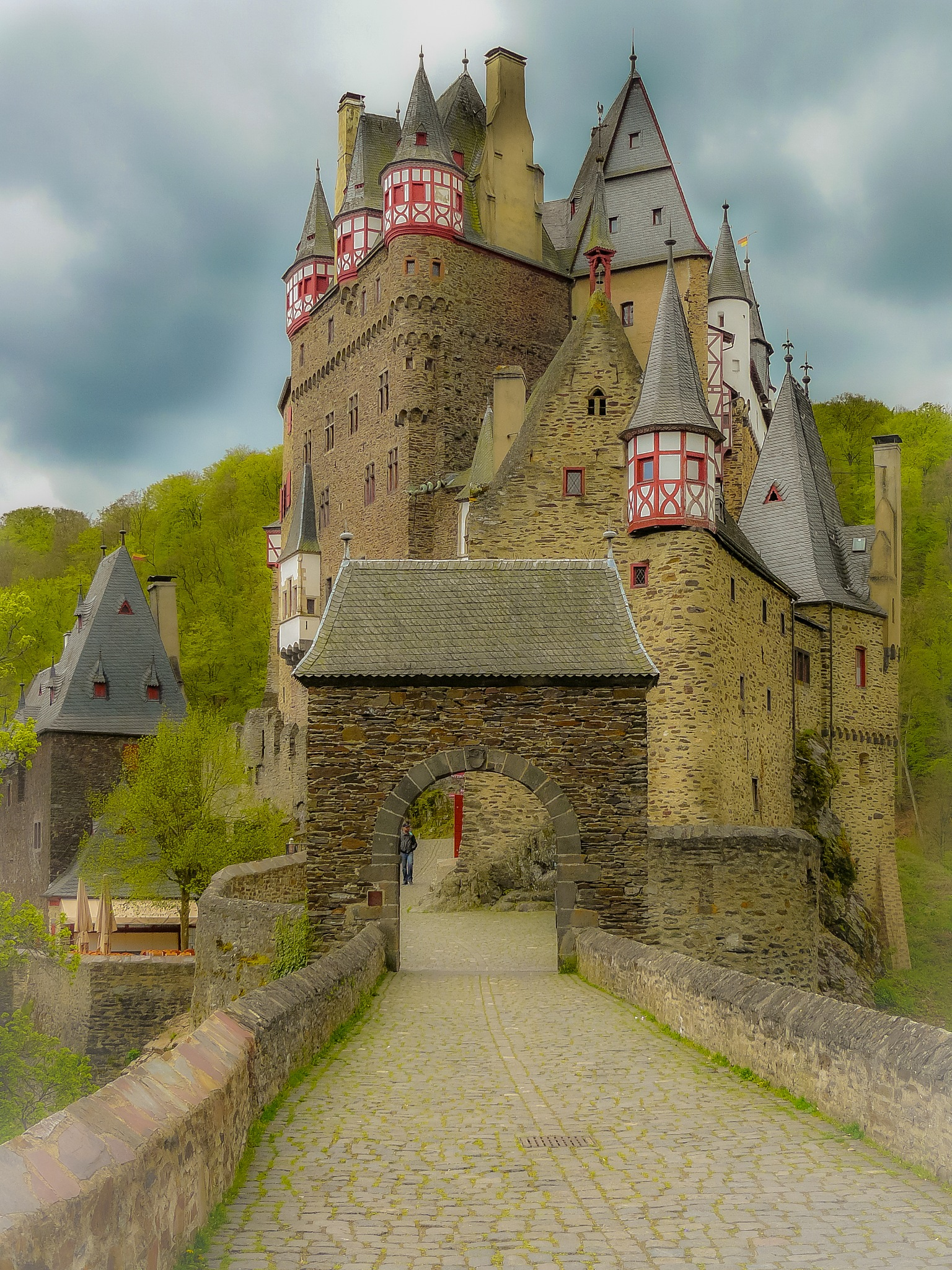 castle in Germany (Mosel) by Paul Geutjes