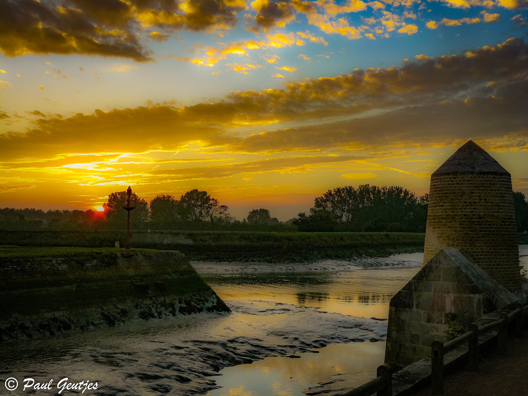 Sunset at Gravelines by Paul Geutjes
