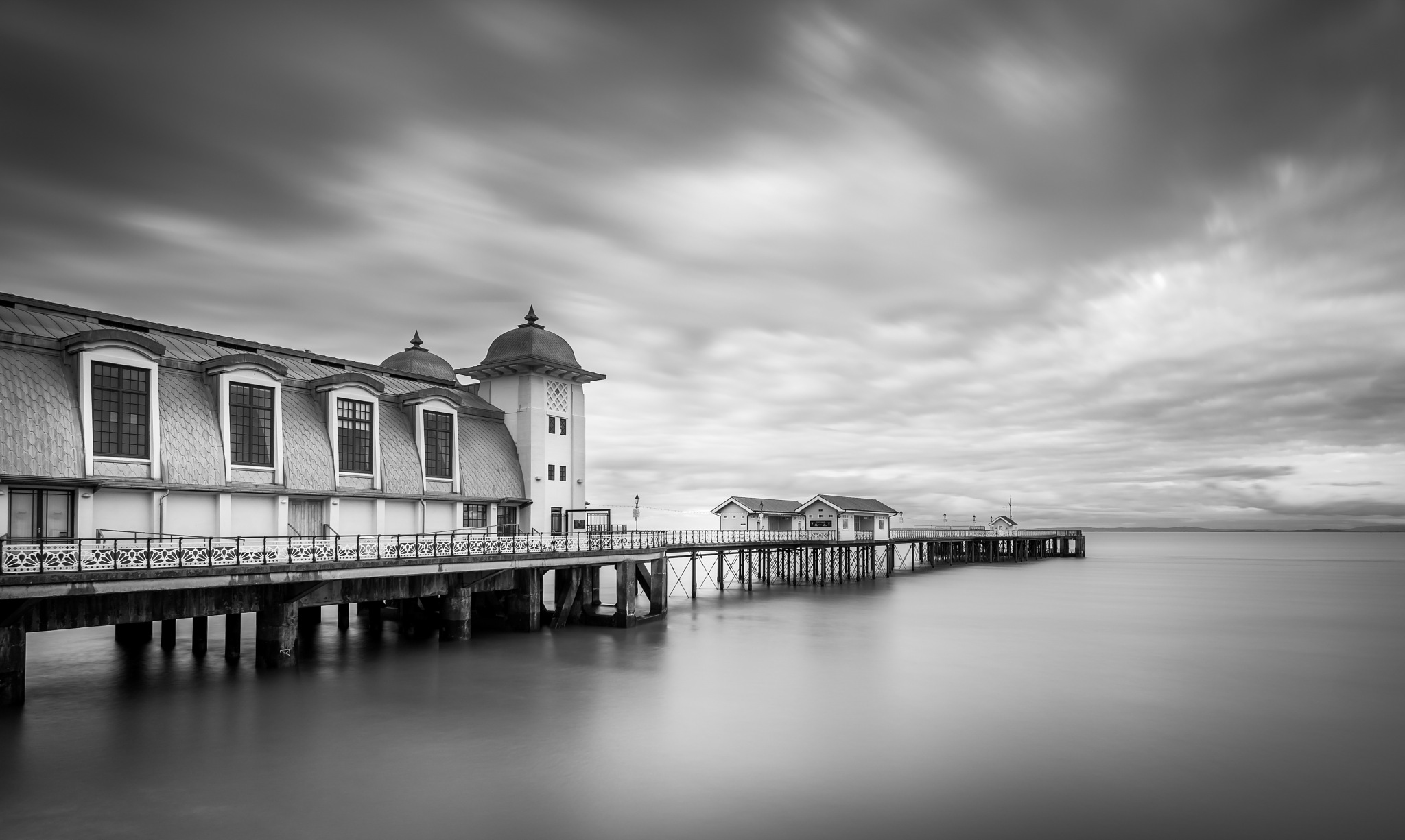 Penarth pier in black and white by andre.belg