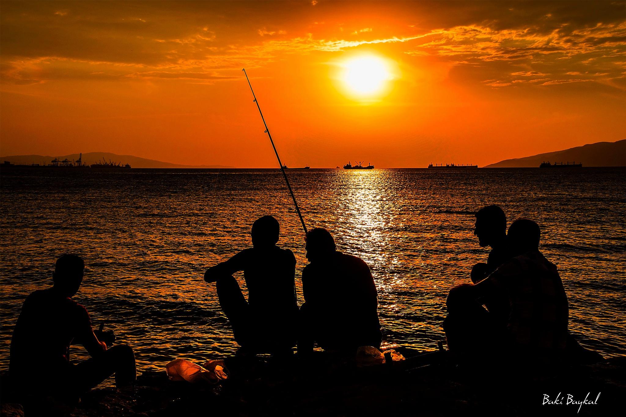 Fishermen. by Baki Baykal