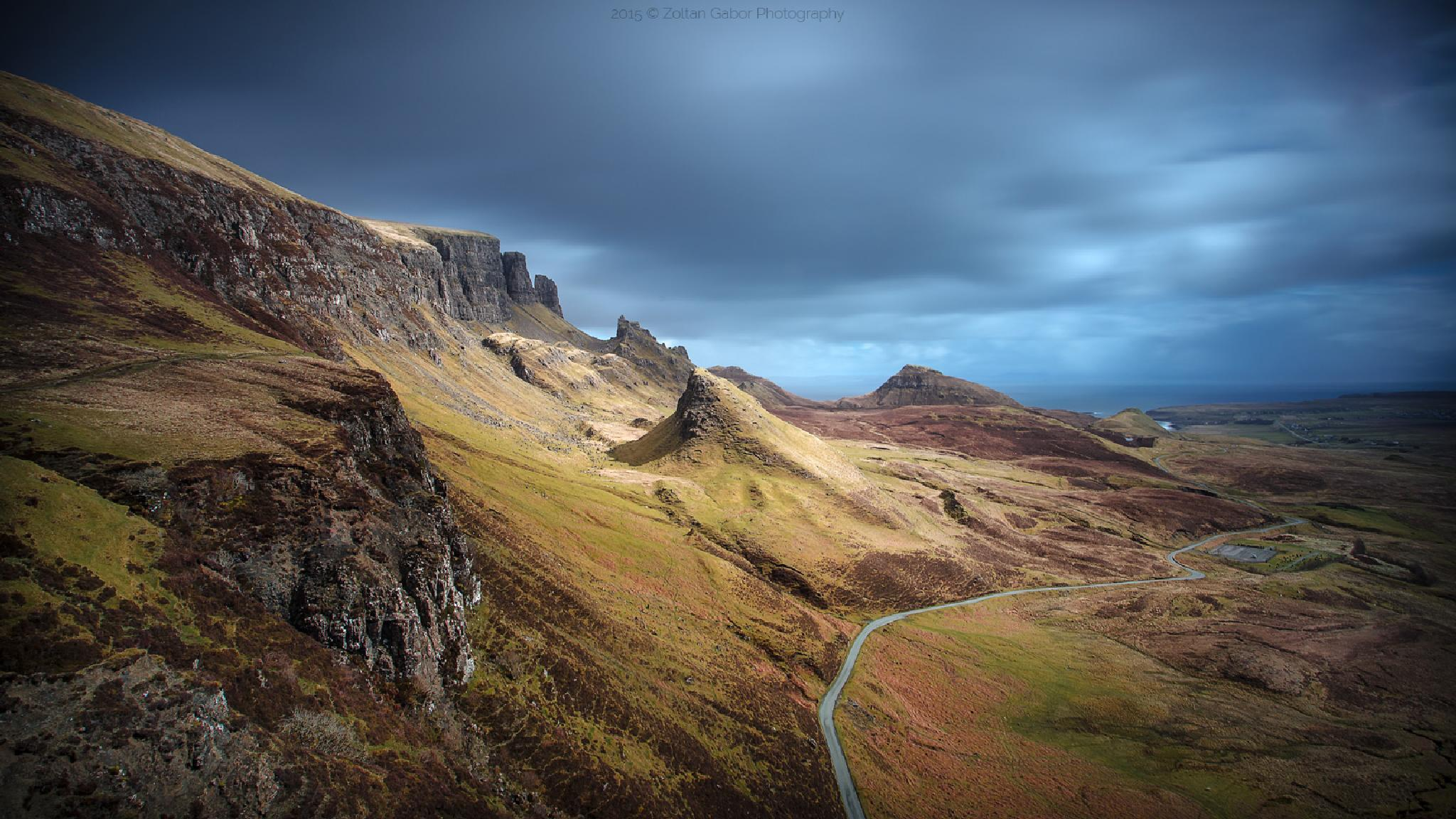 The Quiraing, Isle of Skye, Scotland by Zoltan Gabor