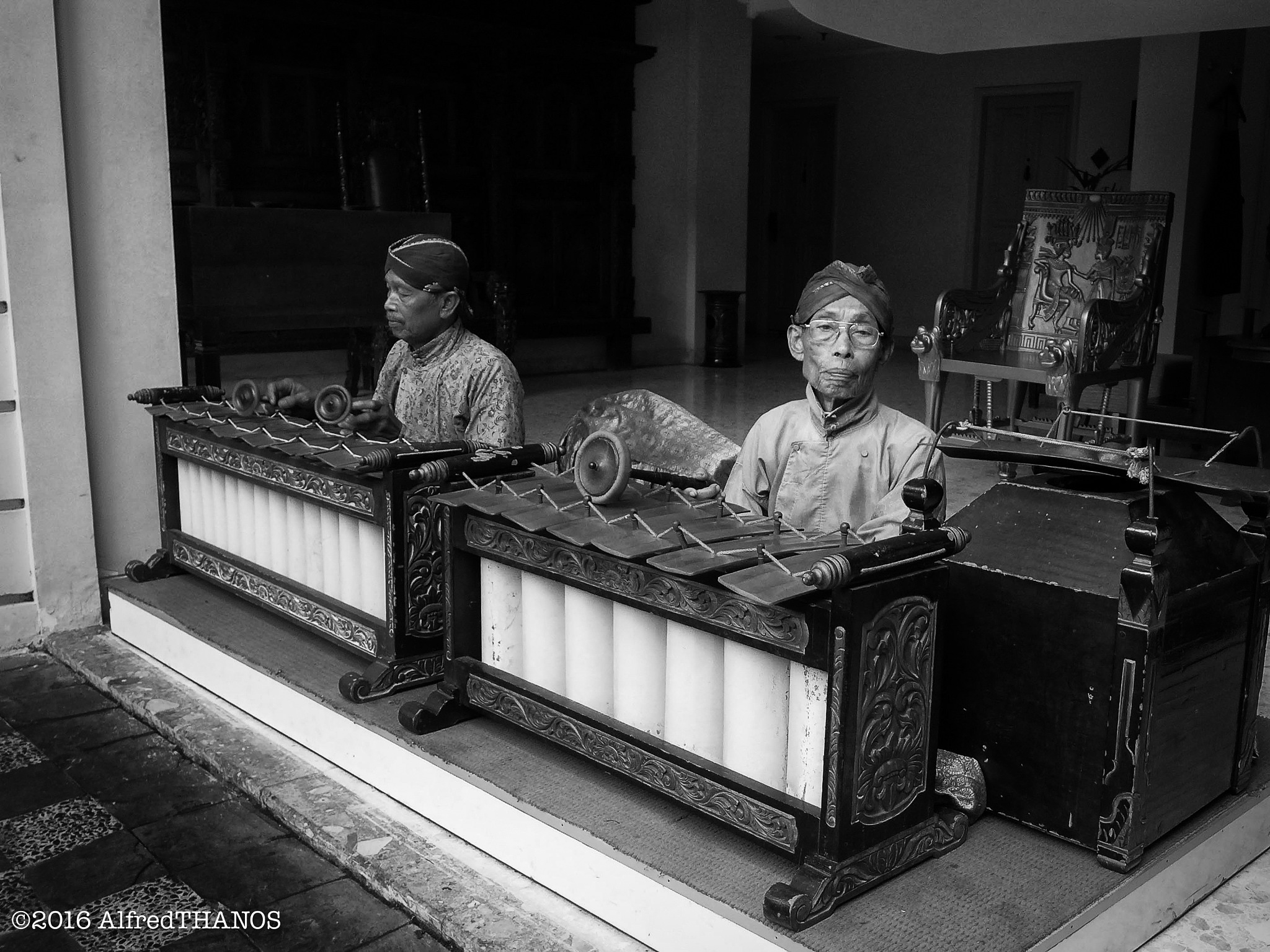 gamelan players by alfredthanos