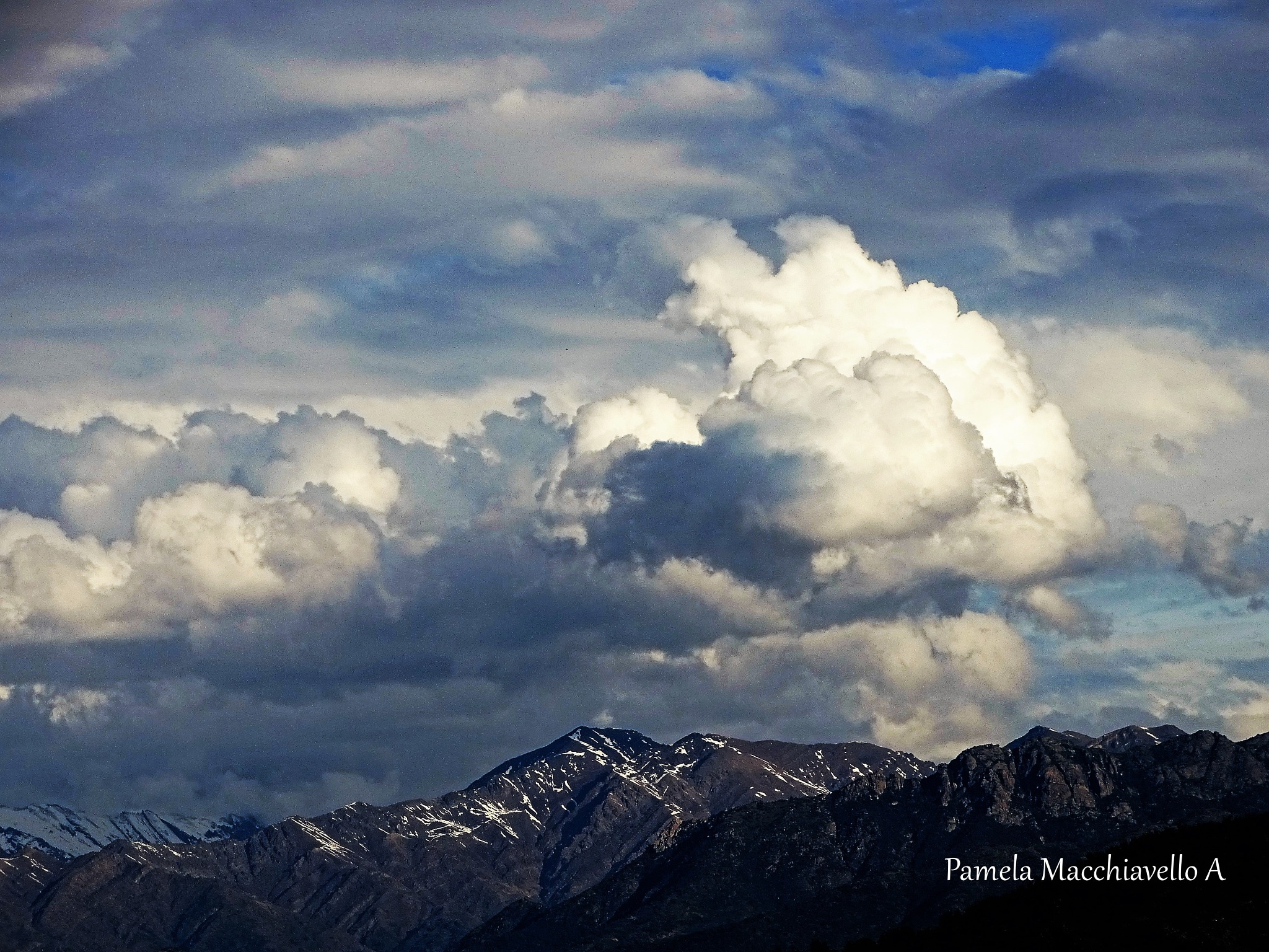 Clouds and mountain by Pamela Macc