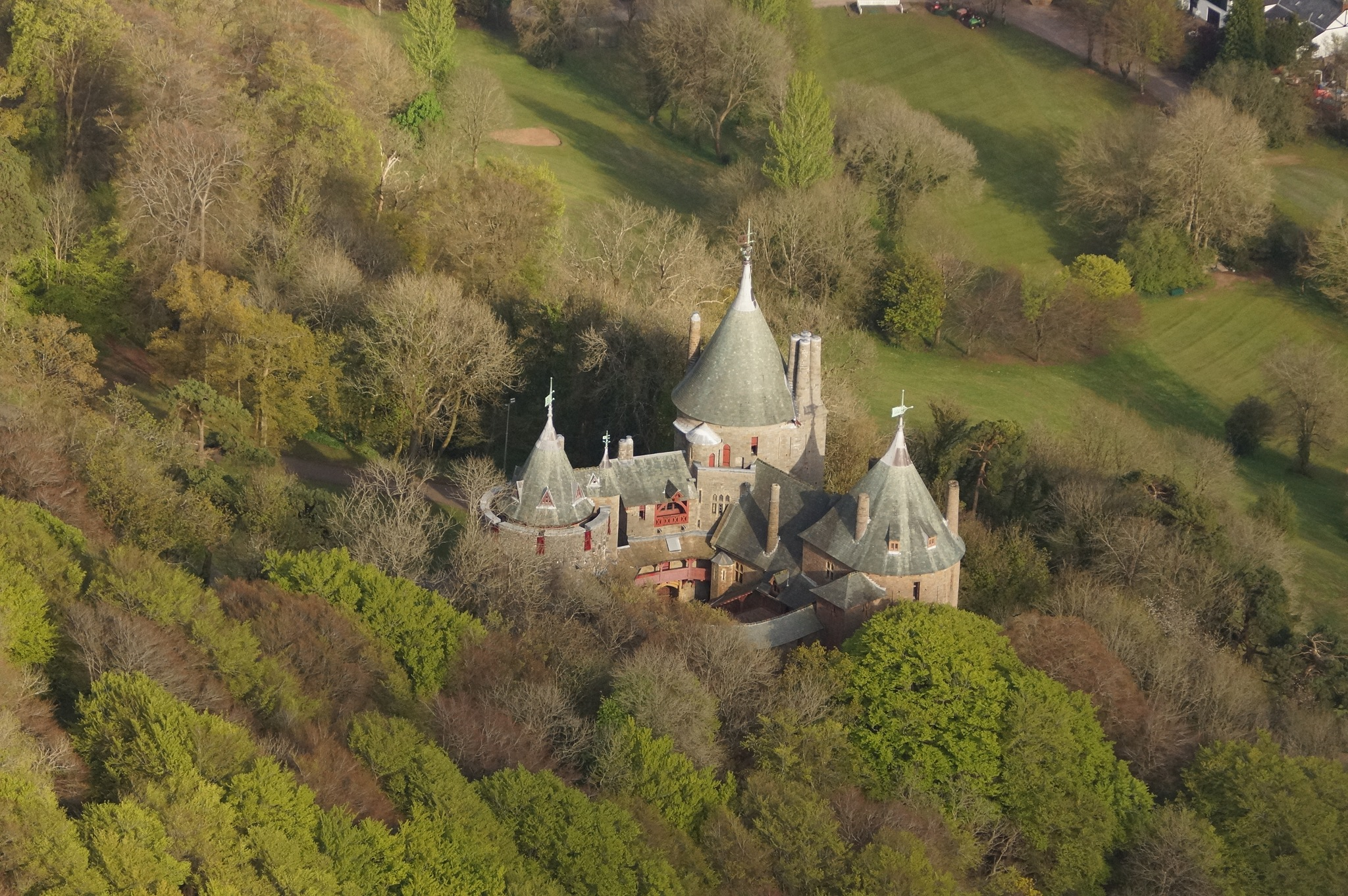 Castle Coch from the air by JohnBulpin