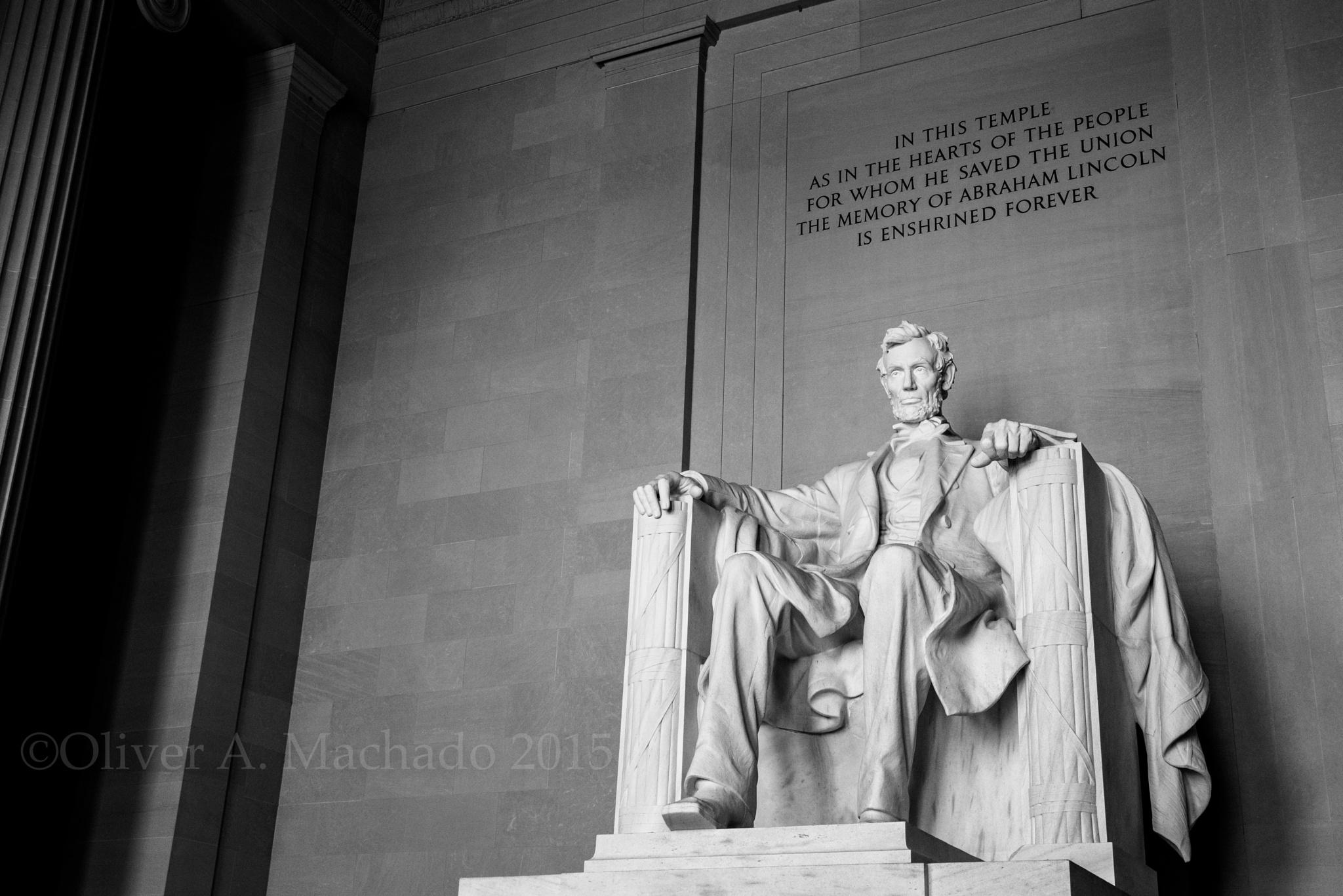 Abraham Lincoln Memorial by Oliver Machado