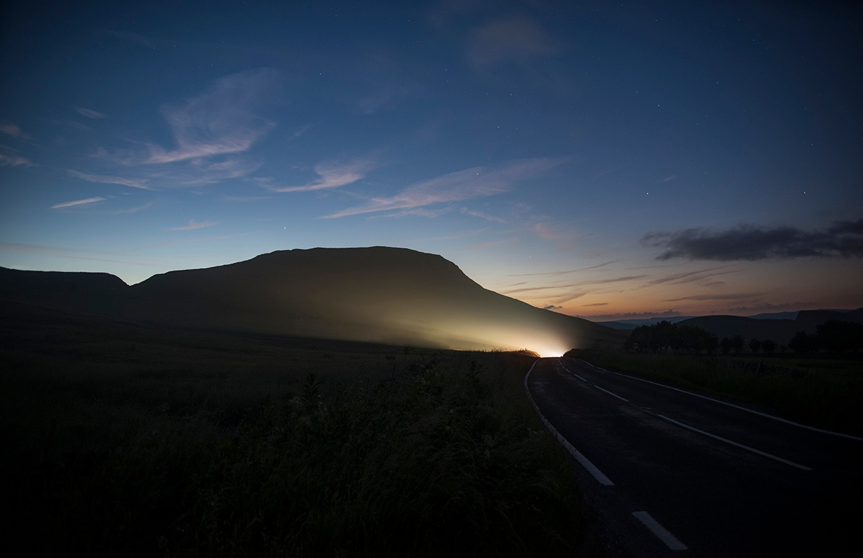 Mam Tor, Midnight by Andrew Brooks