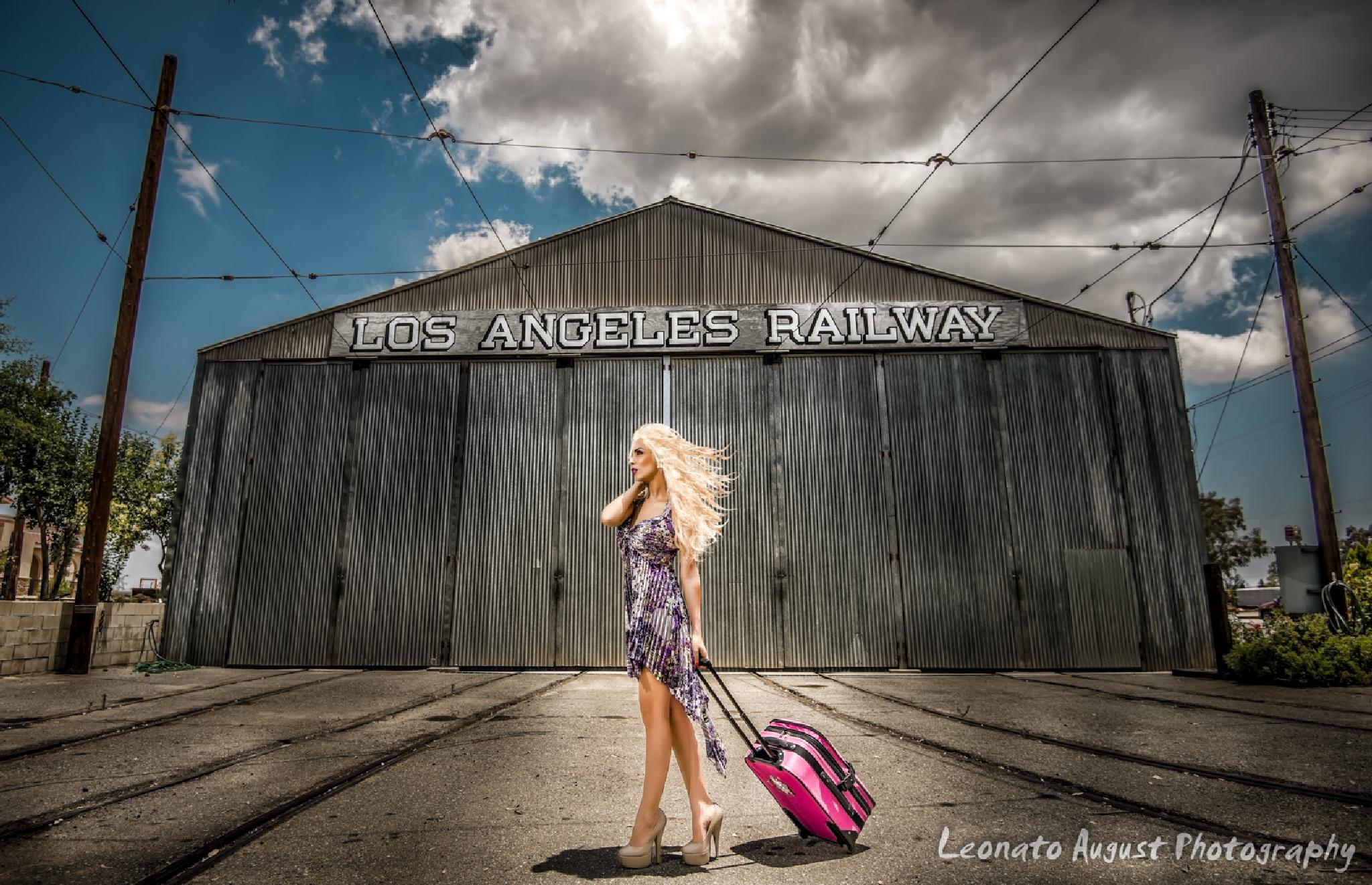 Old Locomotive station with photographer Leonato August by Leonato August