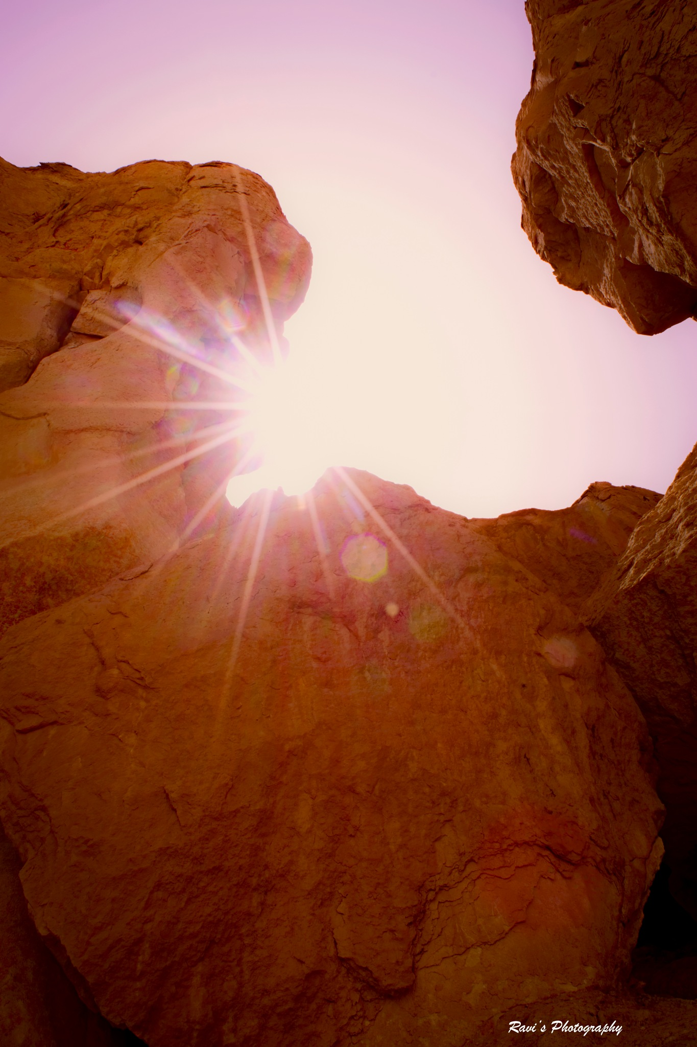 Rays Behind The Rocks by Clicks_ravi