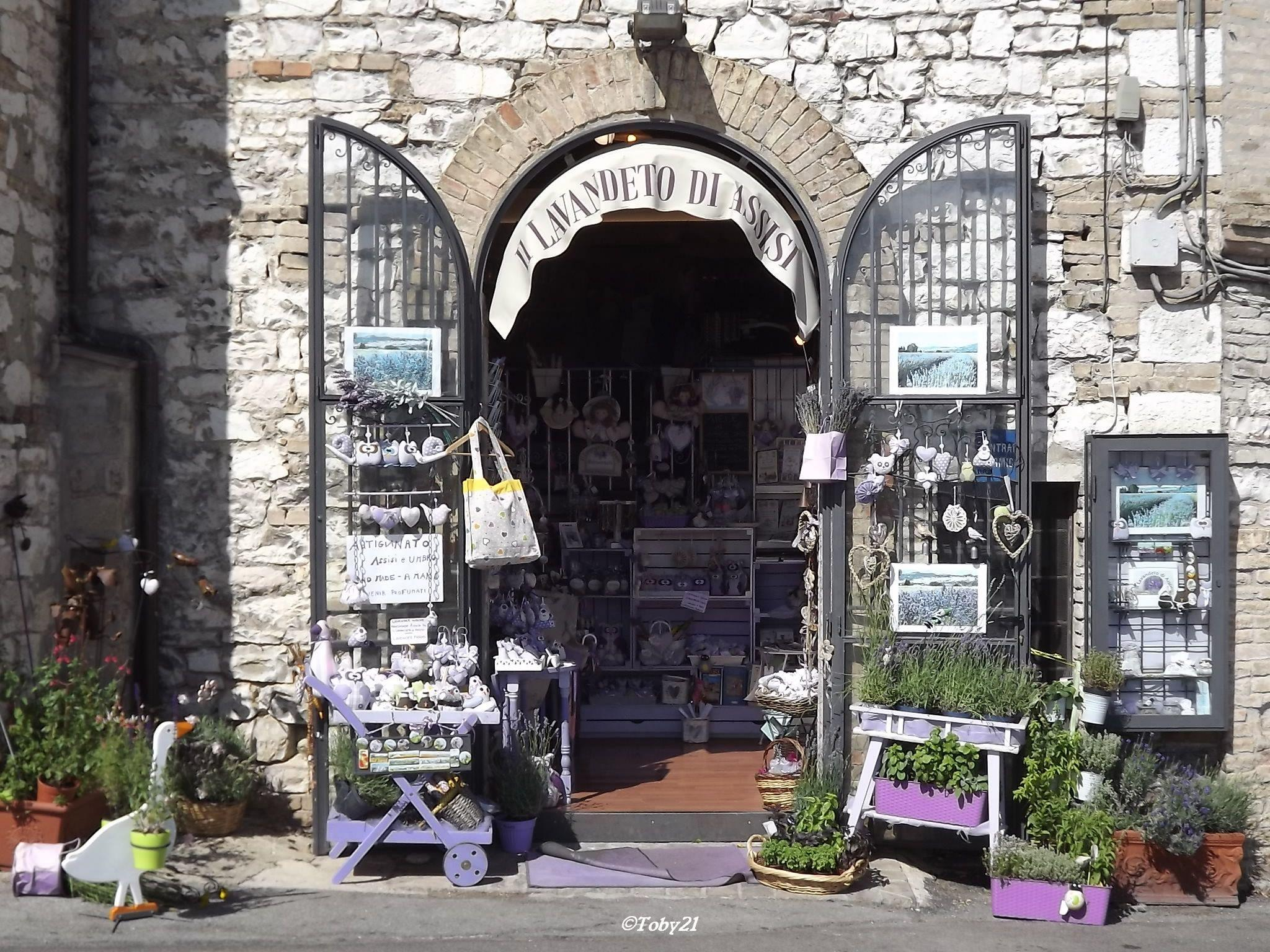 walk through  the street Assisi by b.xoxoxo