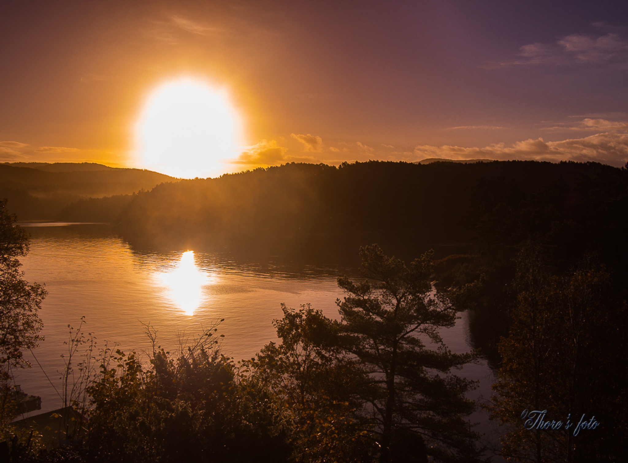 The morning sun by Thore's photo