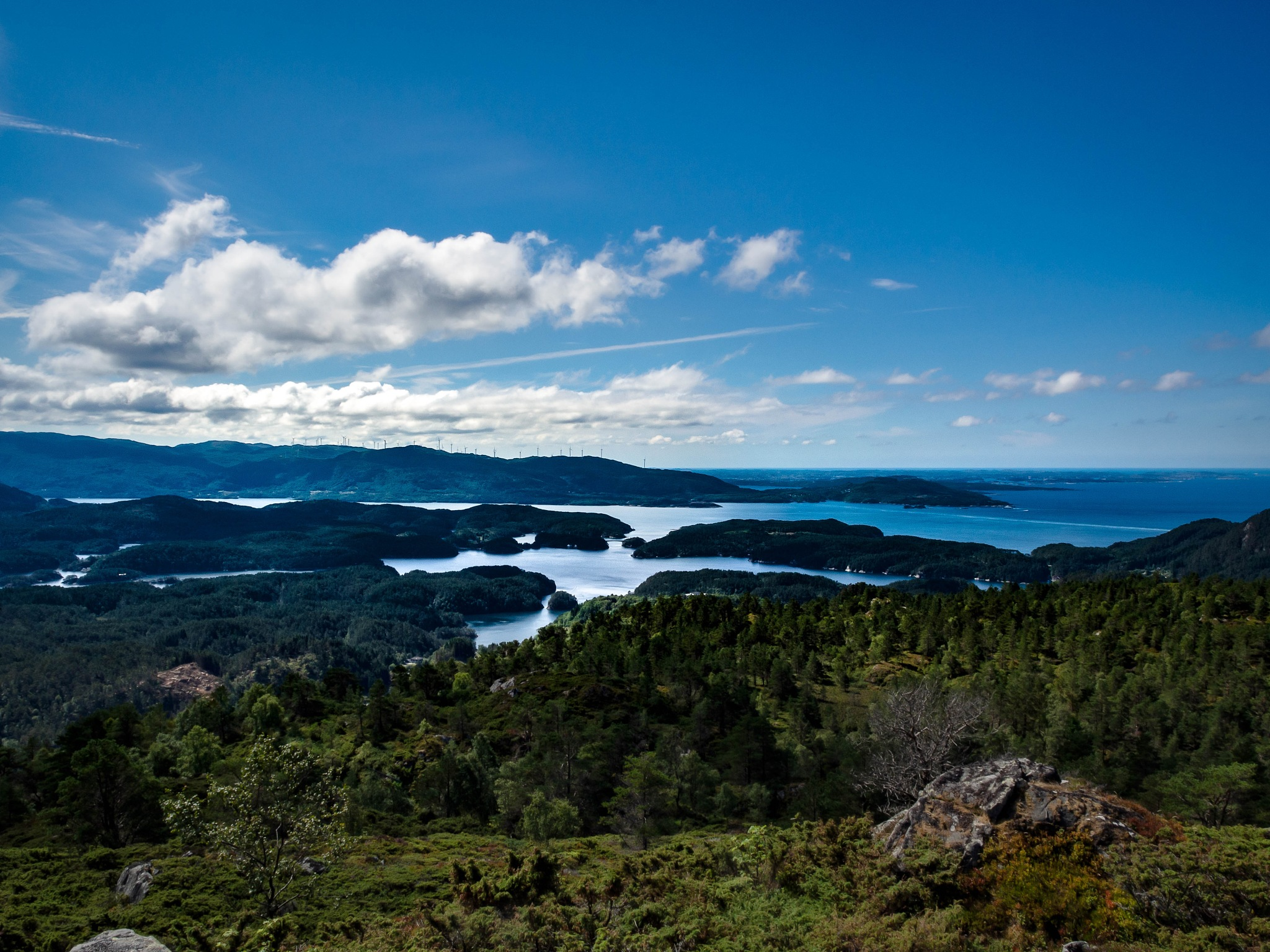 view from a mountain top by Thore's photo