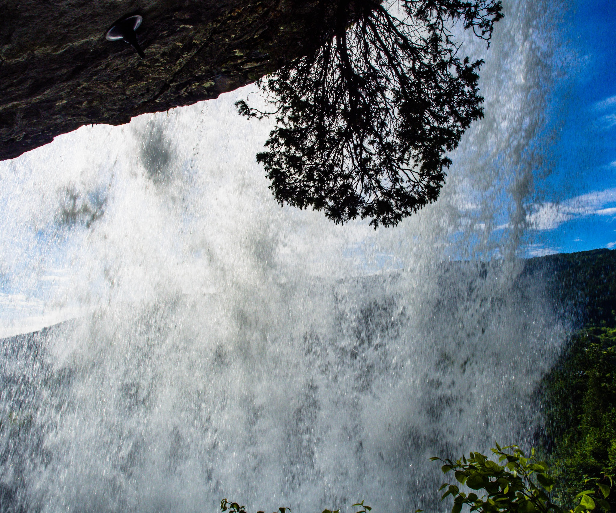 Behind the waterfall by Thore's photo
