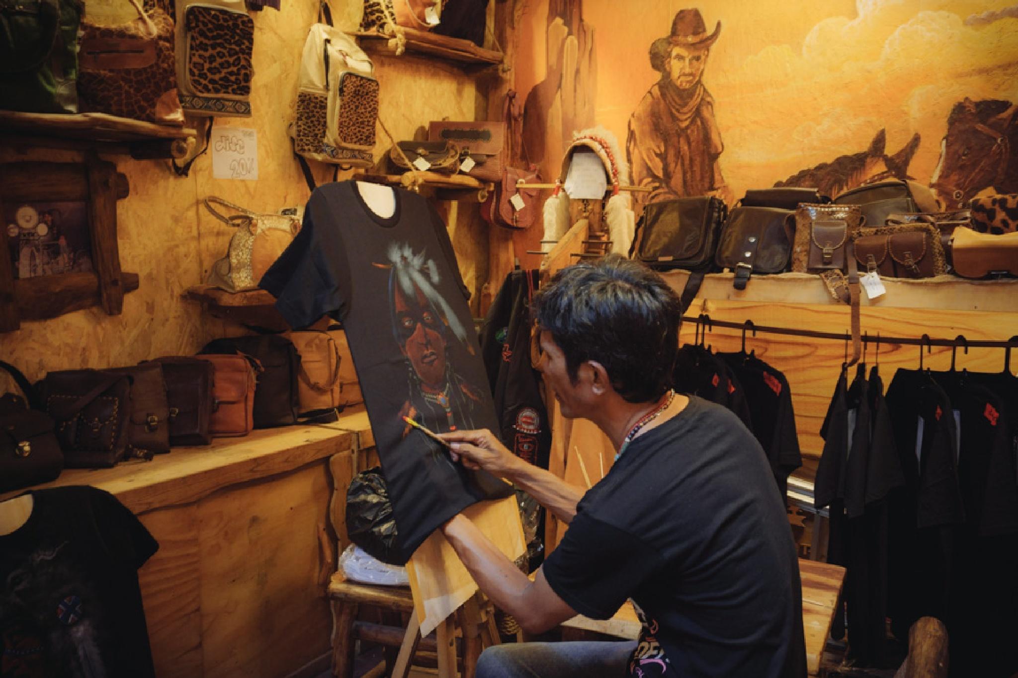 handmade shirt painting by HendraYong