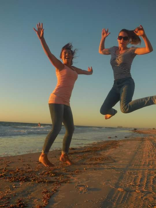 jump for joy in the sun  by sallyannegriff