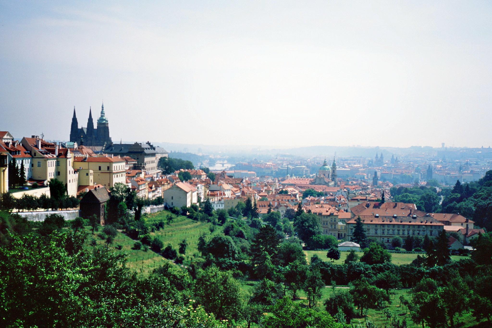 Prague view on slide film by Anatoliy Ashmyanskiy