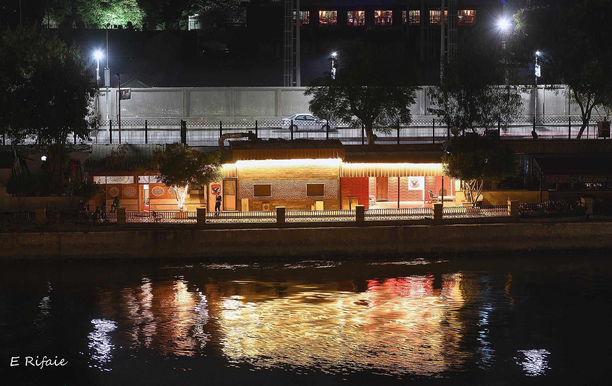 Nile night by Emad Eldin Moustafa El Refaie