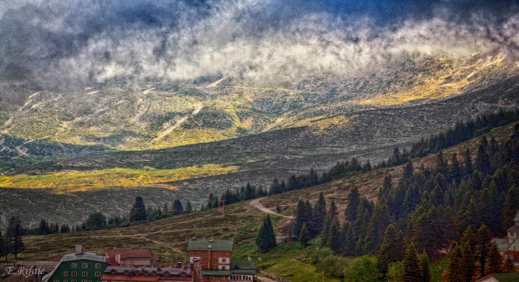 Turkish Mountains by Emad Eldin Moustafa El Refaie
